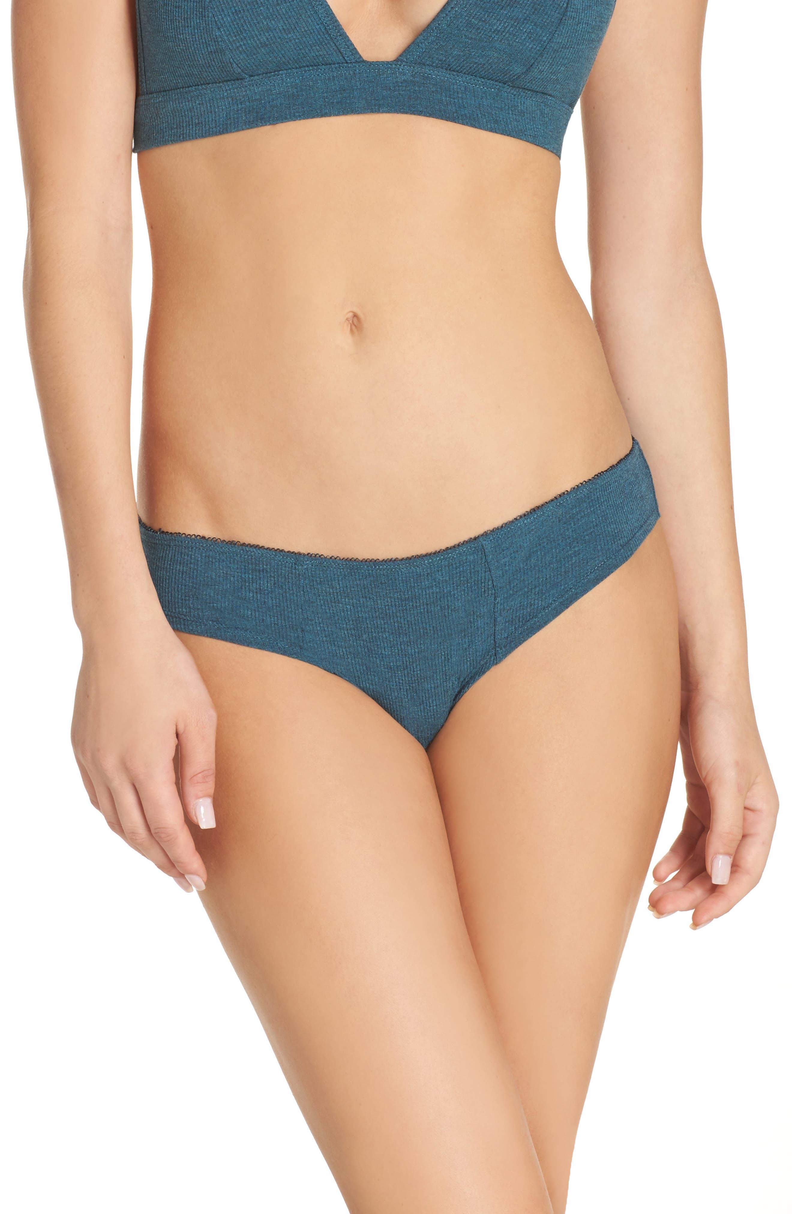 Rib Knit Bikini,                         Main,                         color, 317