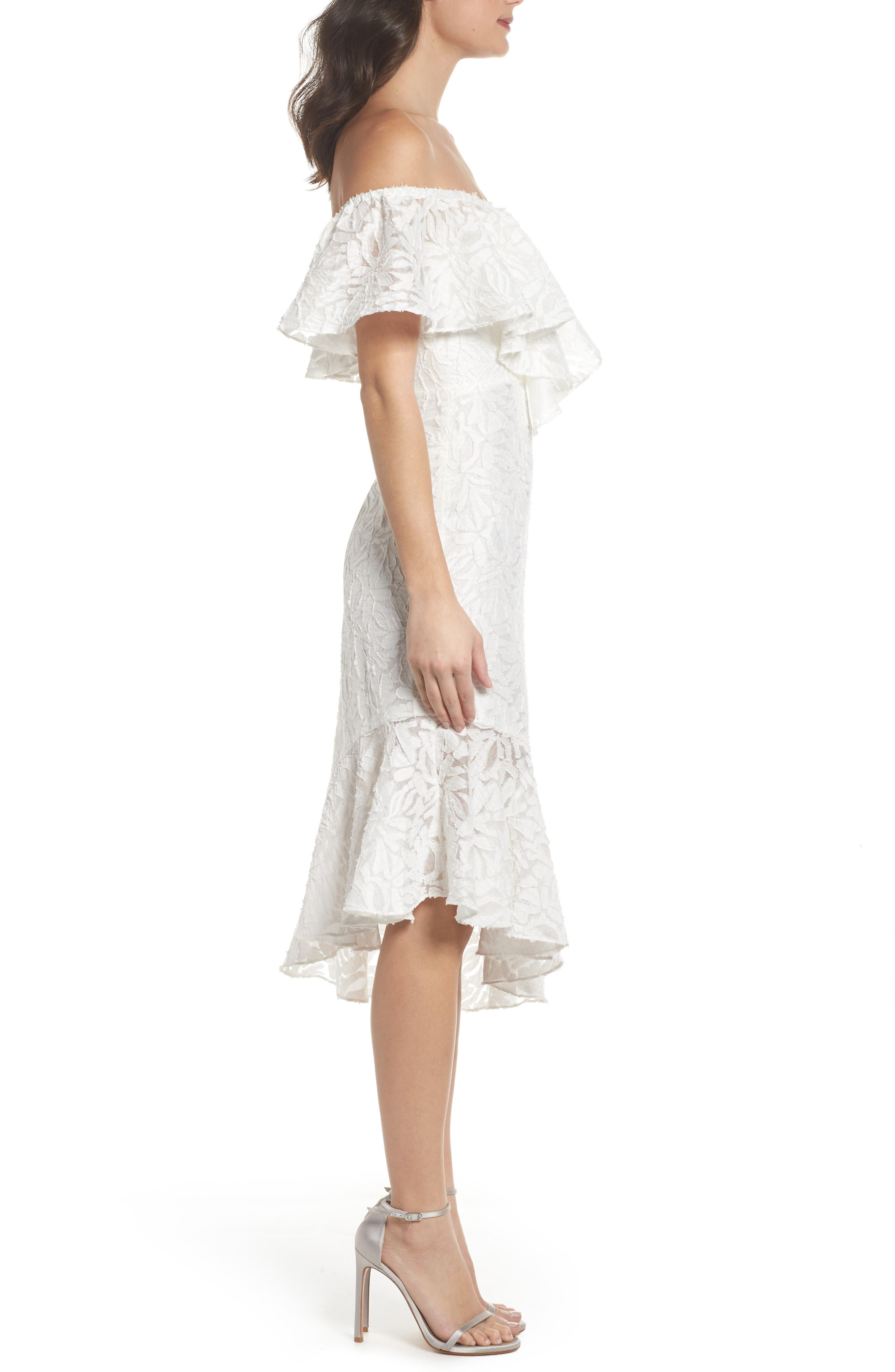 C/MEO More to Give Off the Shoulder Midi Dress,                             Alternate thumbnail 3, color,                             900