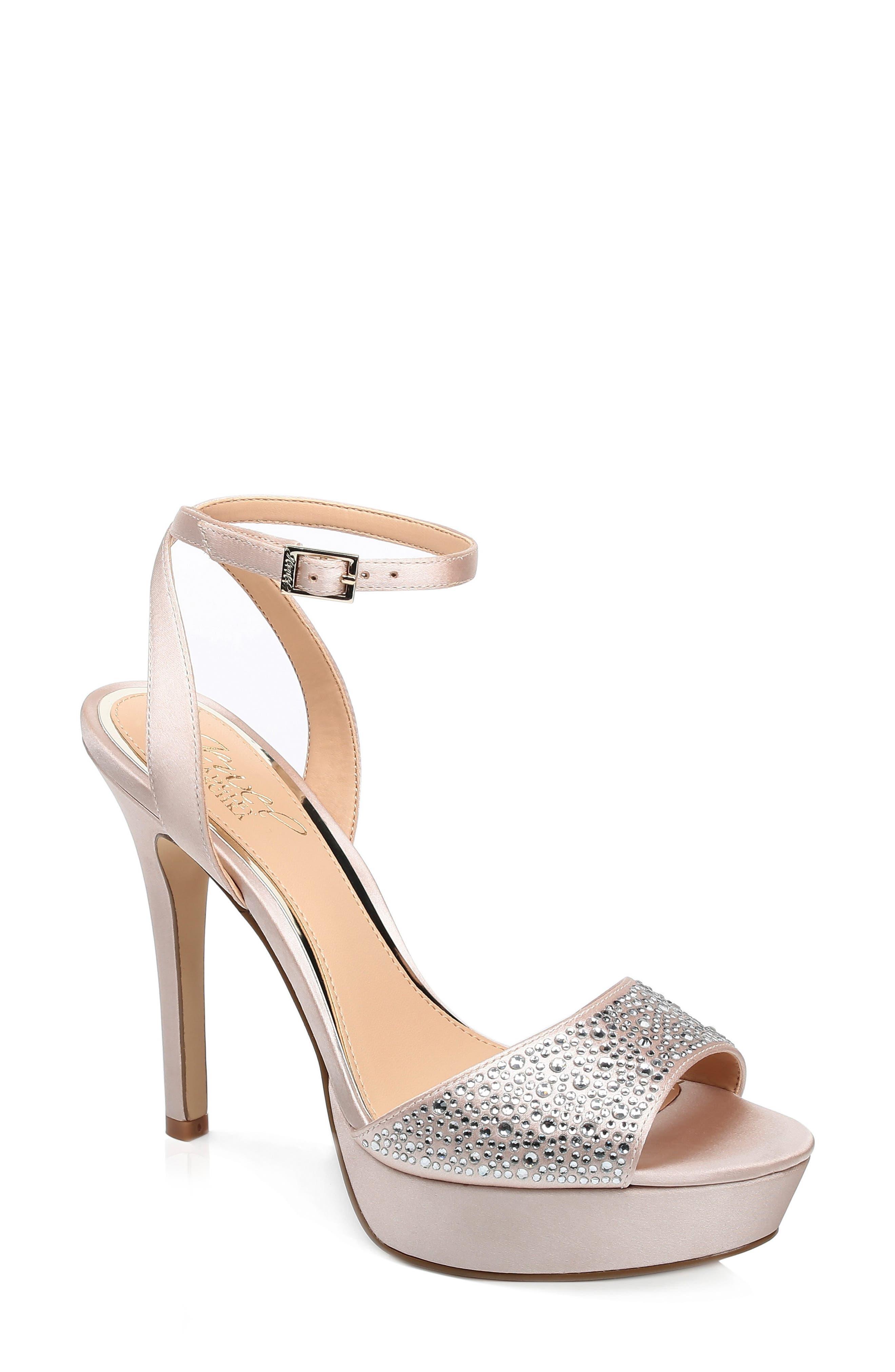 Jewel Badgley Mischka Milena Platform Sandal- Ivory