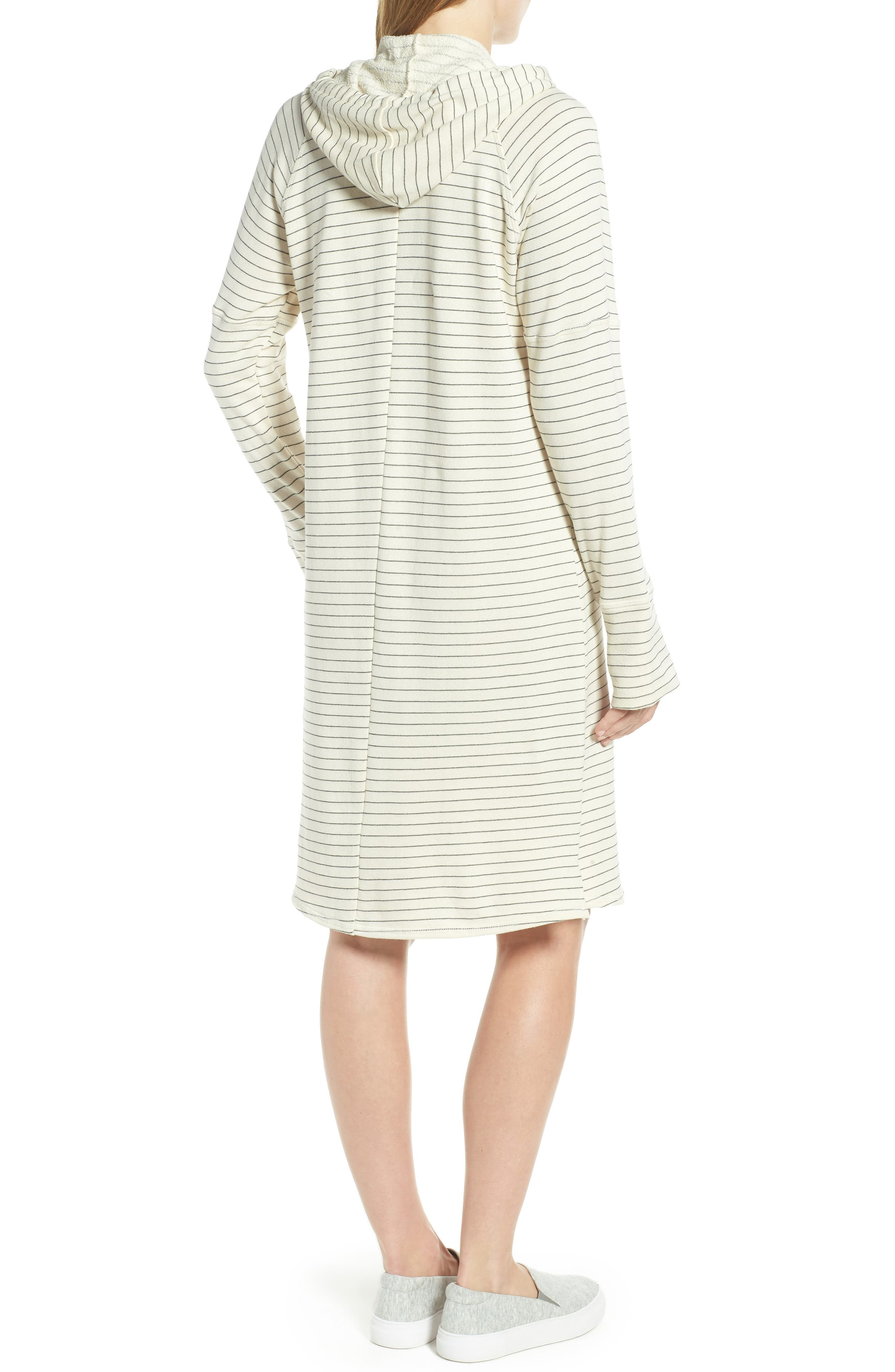 Hooded French Terry Dress,                             Alternate thumbnail 4, color,