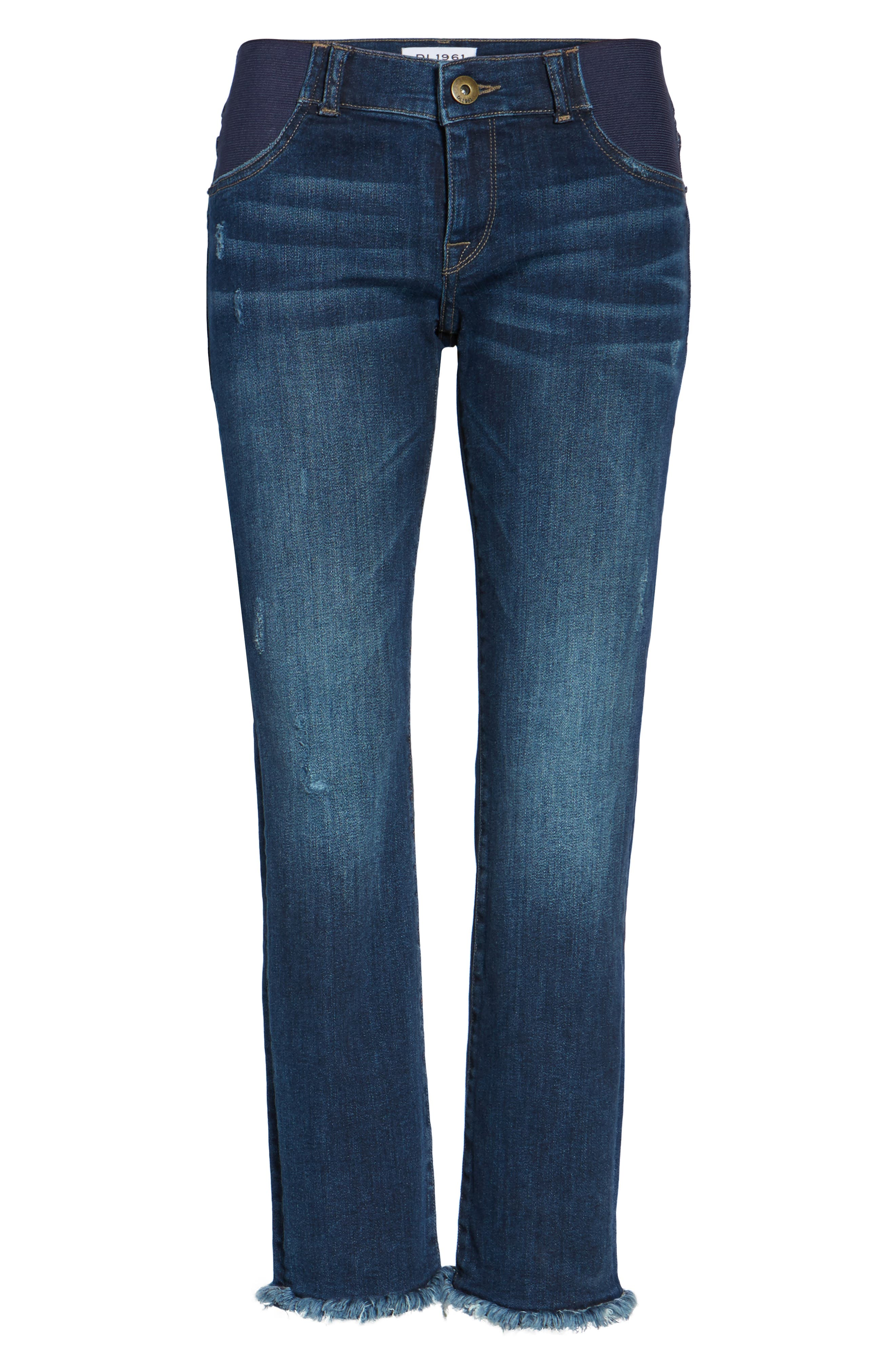 Mara Maternity Ankle Jeans,                             Alternate thumbnail 6, color,                             405