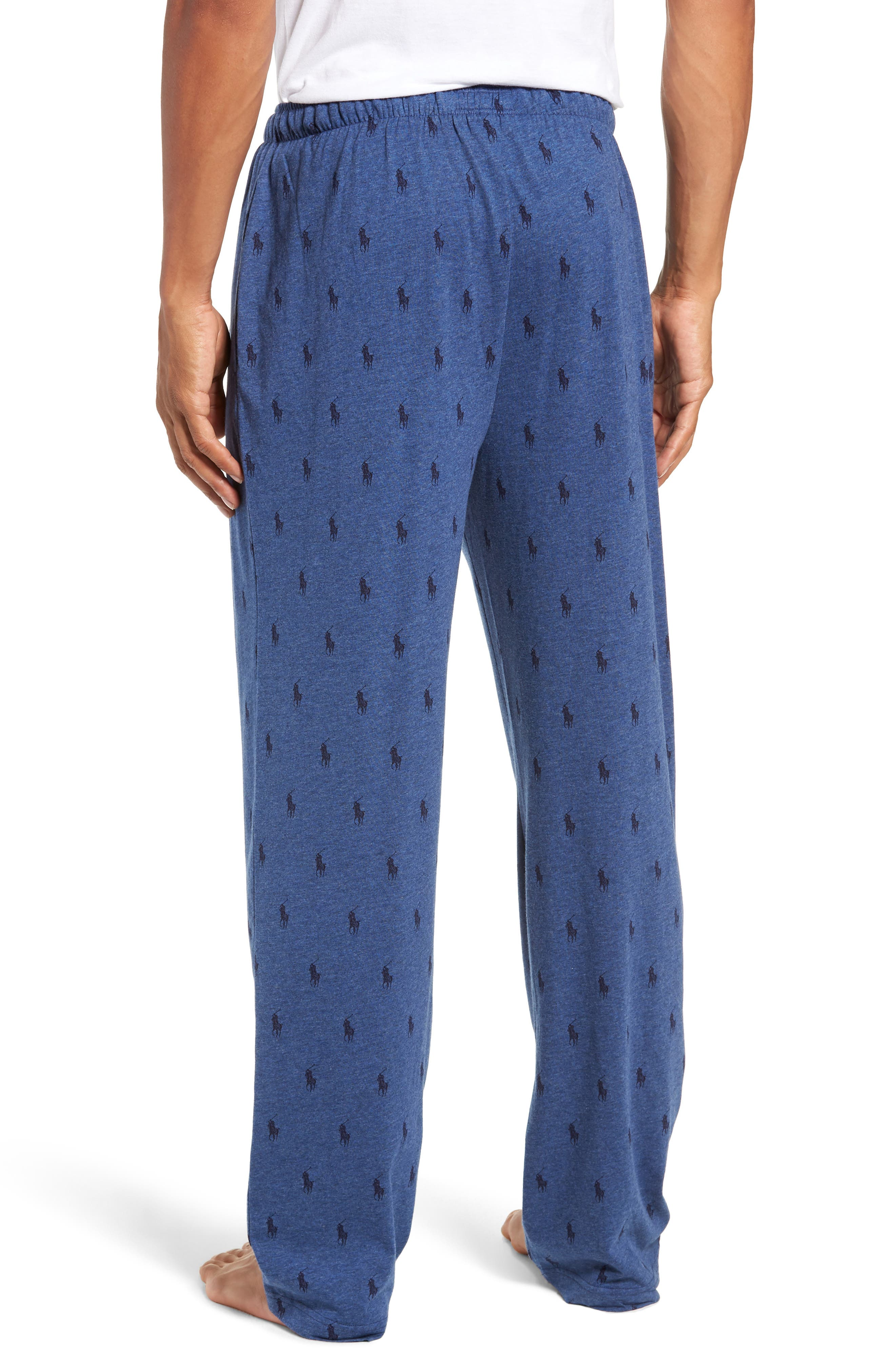 All Over Pony Lounge Pants,                             Alternate thumbnail 2, color,                             BLUE HEATHER/ CRUISE NAVY