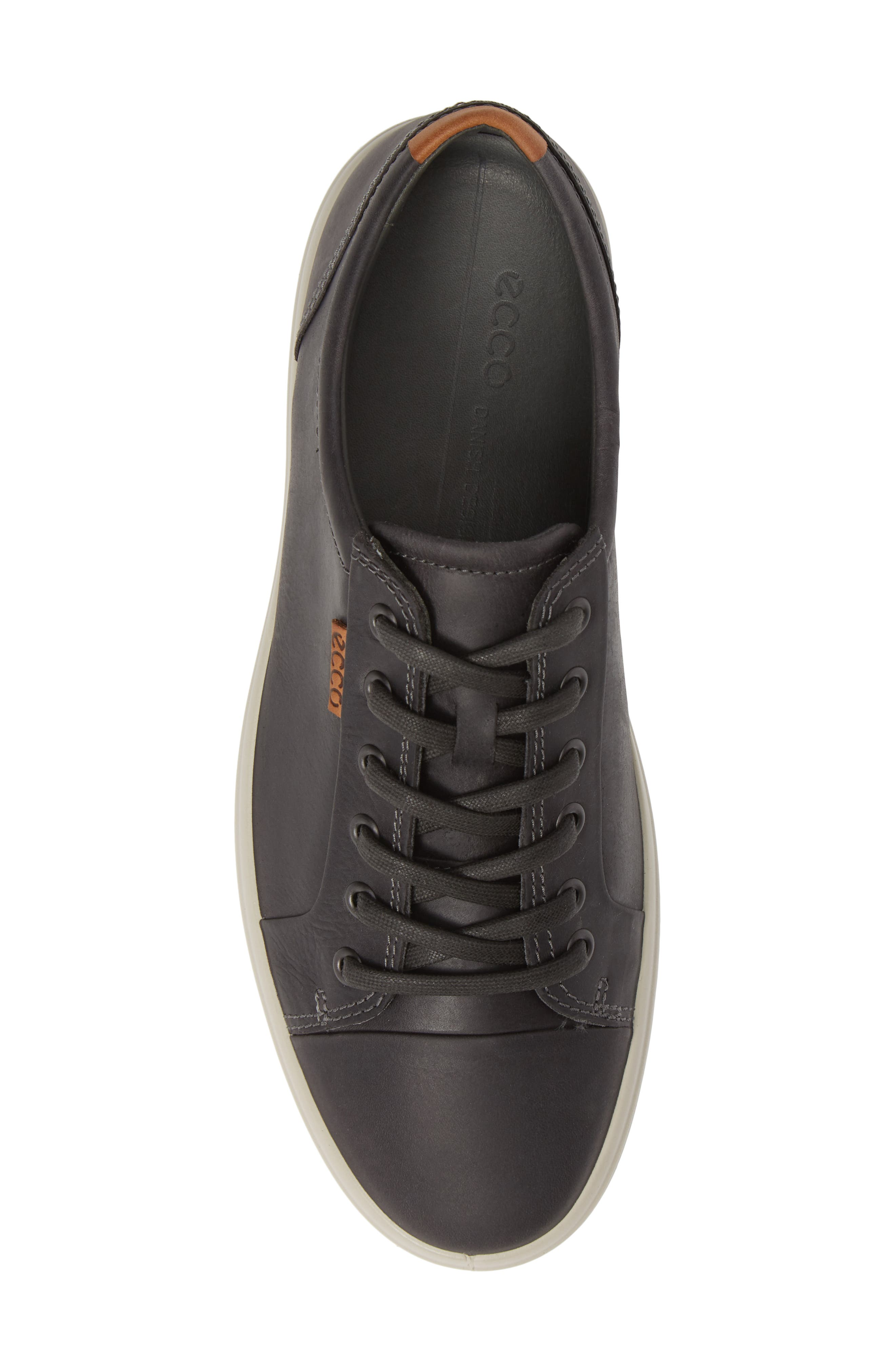 ECCO,                             Soft VII Lace-Up Sneaker,                             Alternate thumbnail 5, color,                             GREY OILED NUBUCK