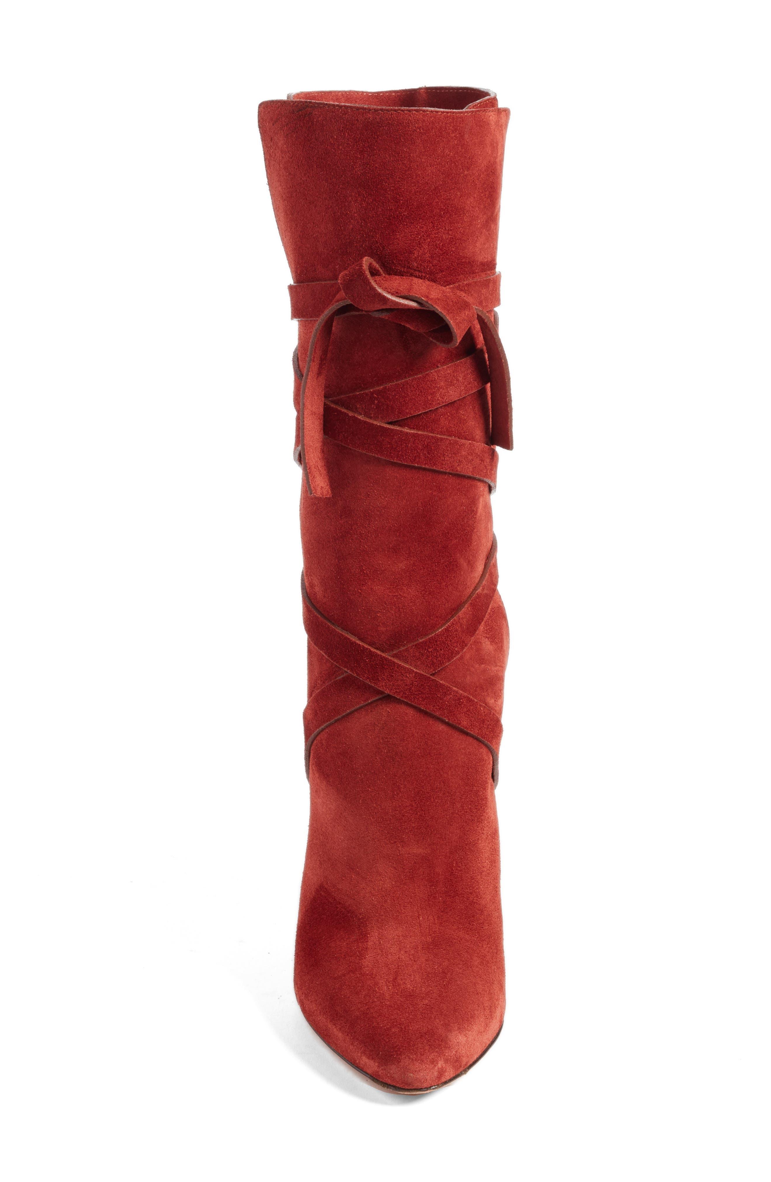 Hall Crisscross Tie Boot,                             Alternate thumbnail 4, color,                             220
