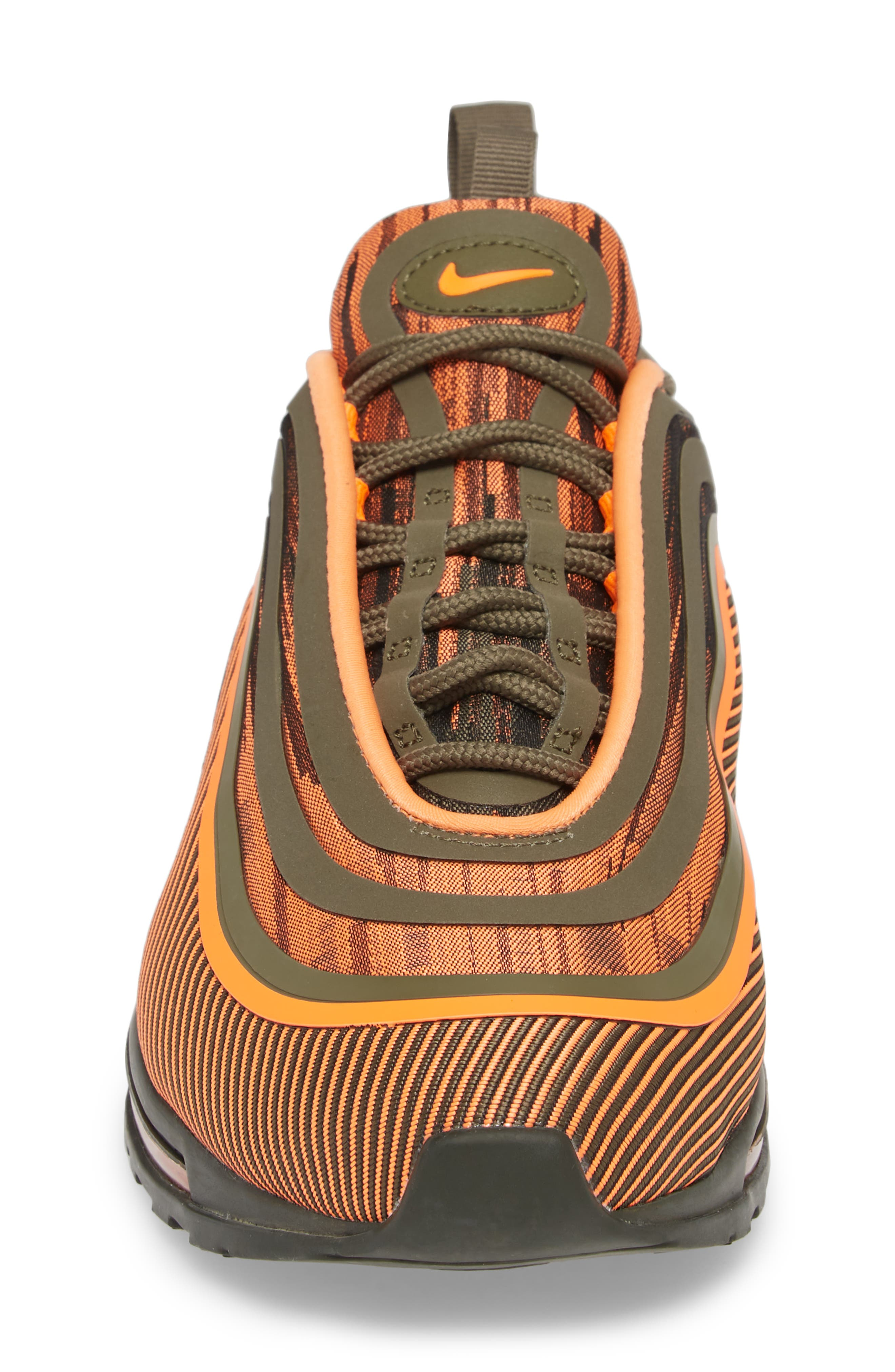Air Max 97 Ultra '17 Sneaker,                             Alternate thumbnail 4, color,                             TOTAL ORANGE/ OLIVE/ SEQUOIA