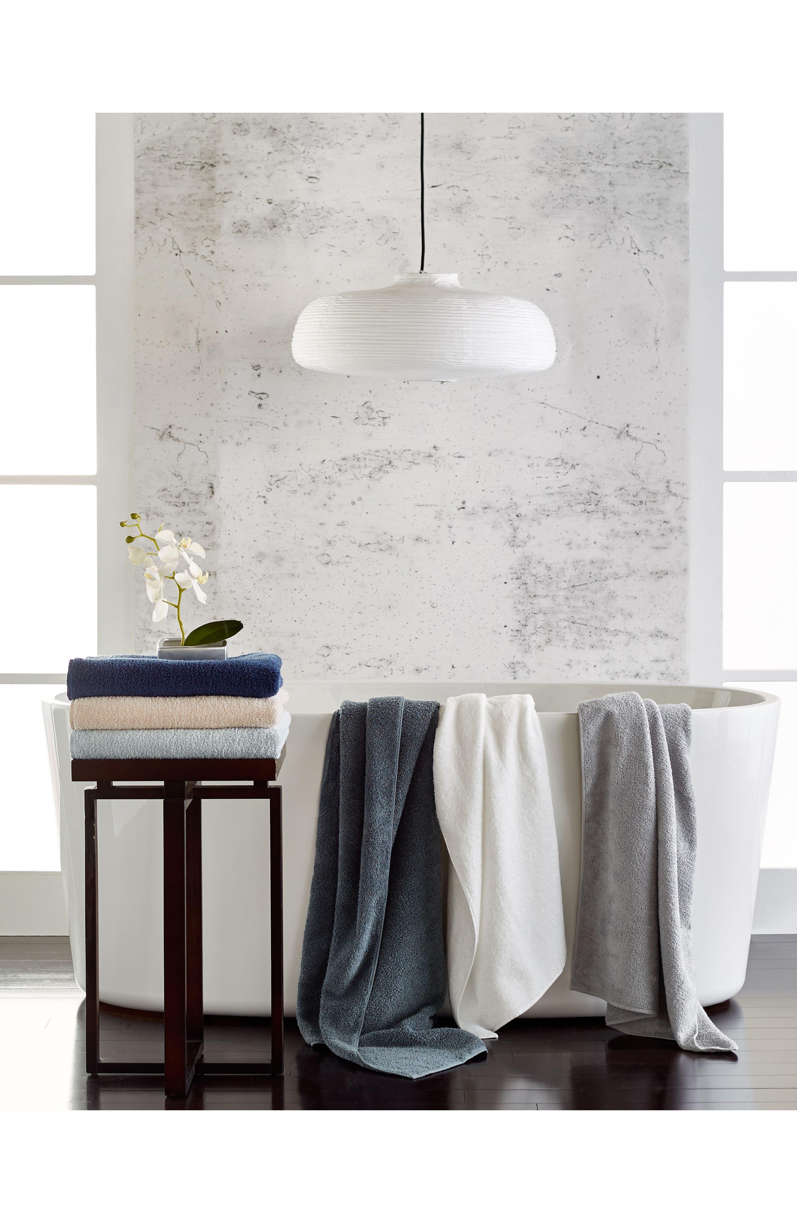 Zero Twist Bath Towel,                             Alternate thumbnail 2, color,                             WHITE
