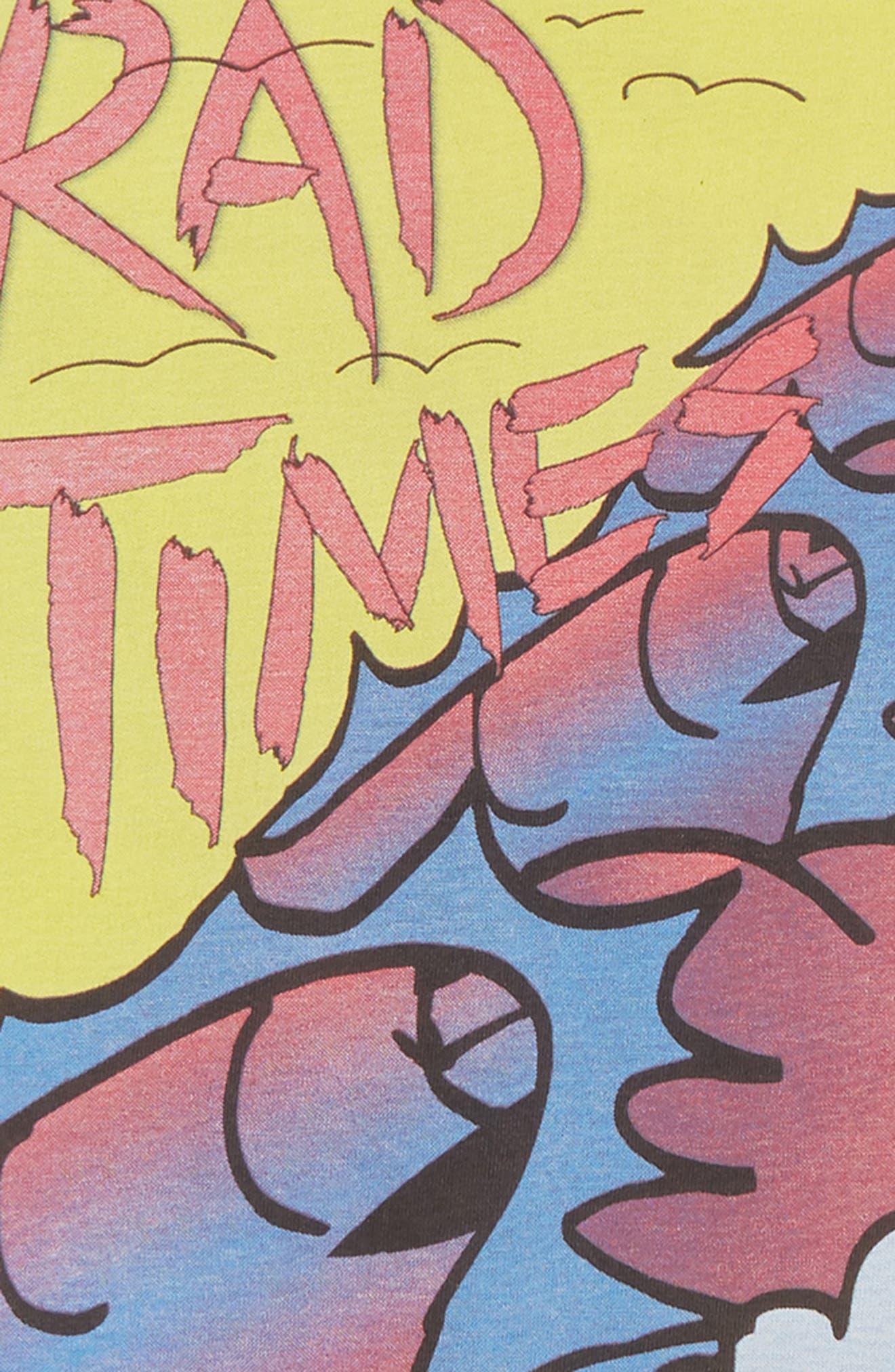 Rad Times T-Shirt,                             Alternate thumbnail 3, color,                             SOFT BLACK