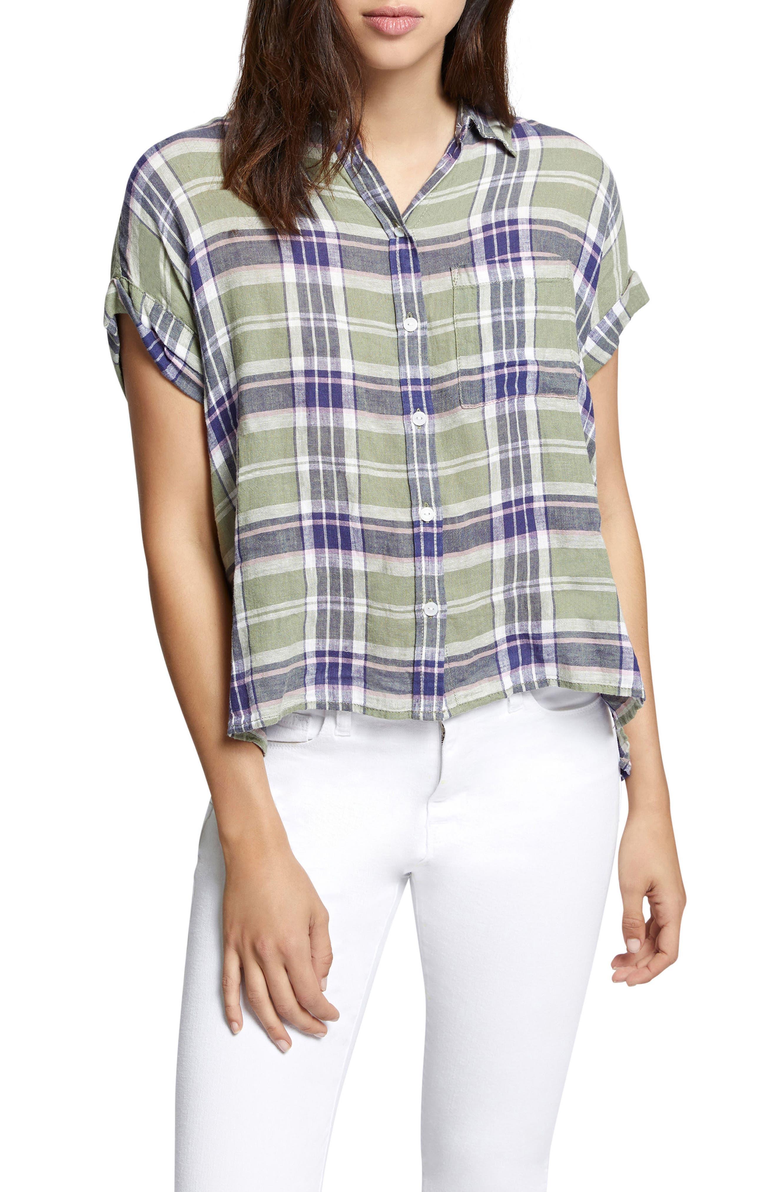 Mod Short Sleeve Boyfriend Shirt,                             Main thumbnail 2, color,