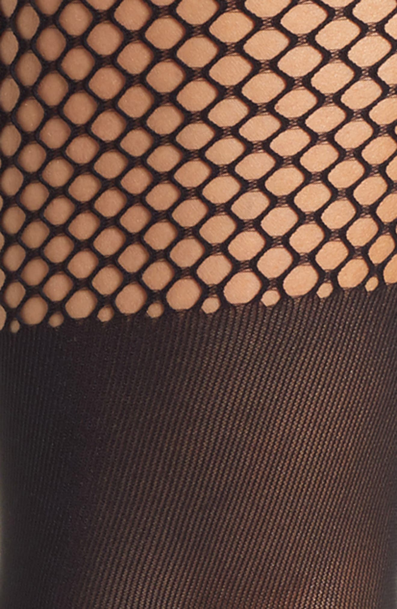 NATORI,                             Top Net Fashion Tights,                             Alternate thumbnail 2, color,                             001