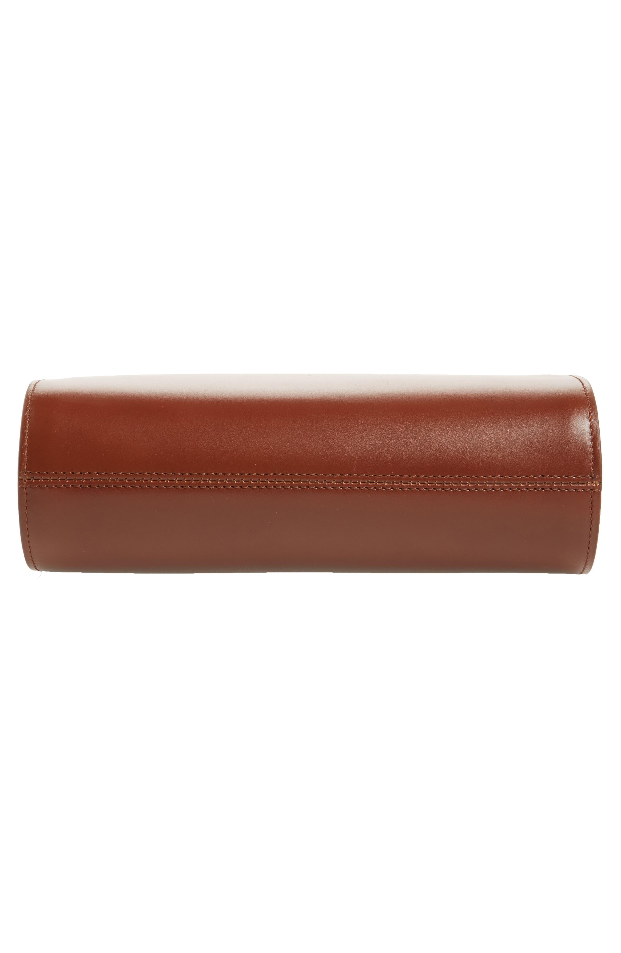 'Sac Demi Lune' Leather Crossbody Bag,                             Alternate thumbnail 6, color,                             NOISETTE