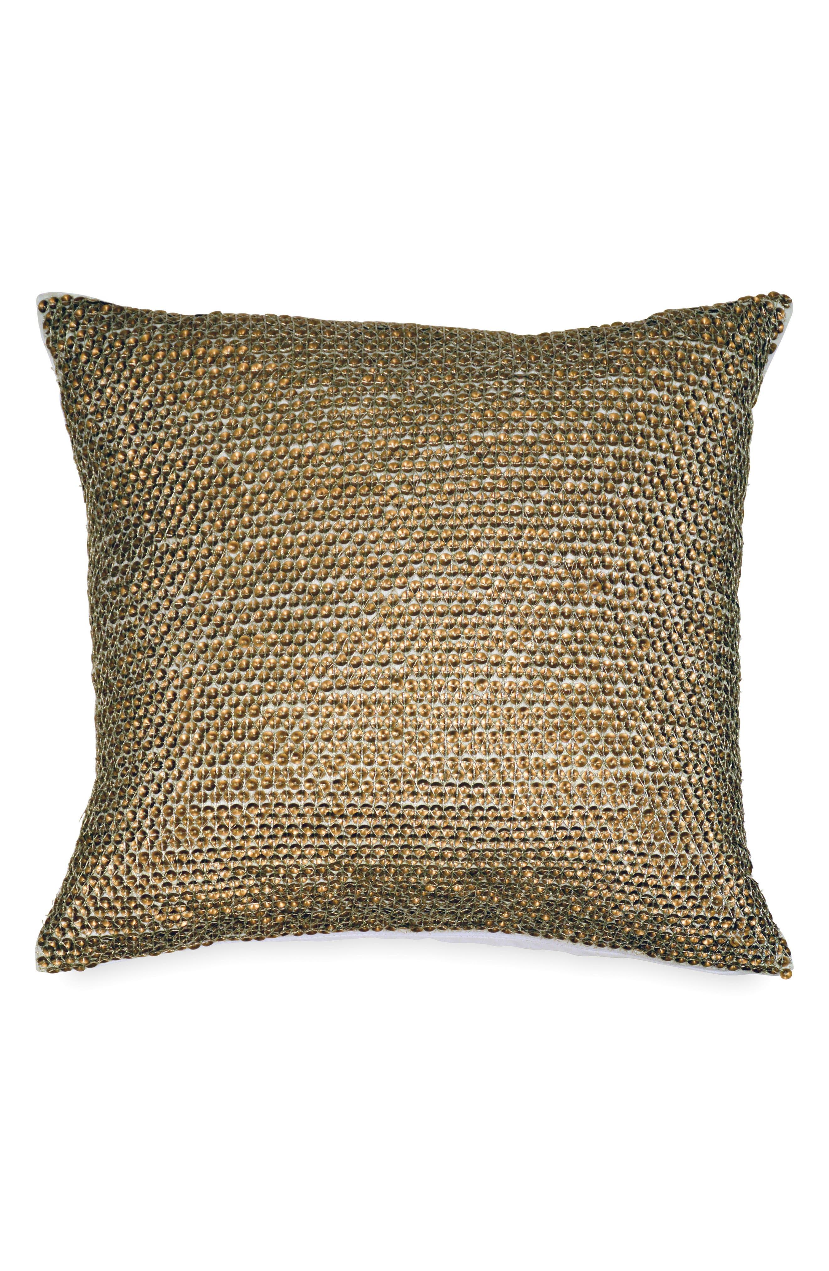 Donna Karan Vapor Sequin Accent Pillow,                             Main thumbnail 1, color,                             710