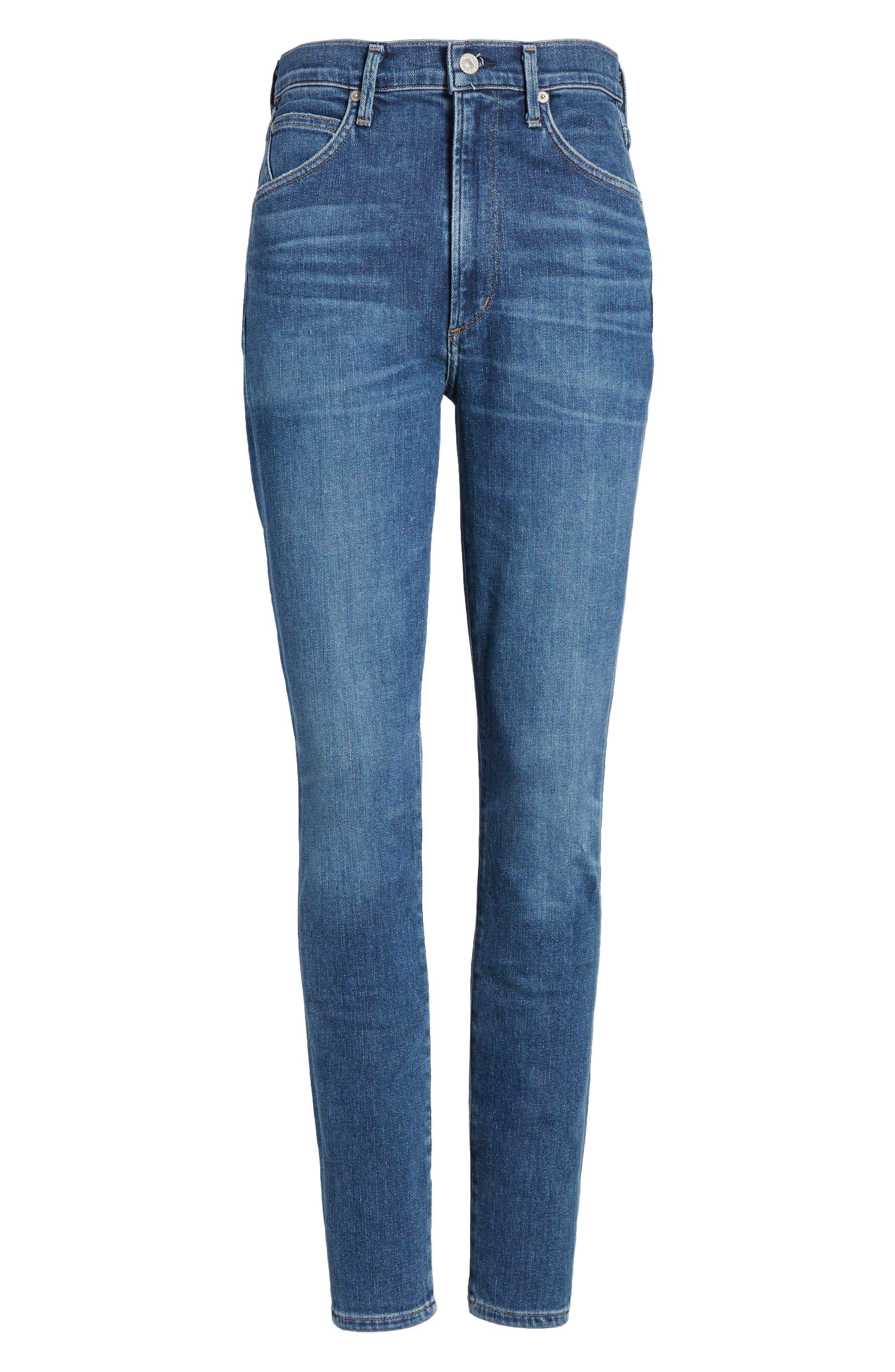 Chrissy High Waist Skinny Jeans,                             Alternate thumbnail 6, color,                             455