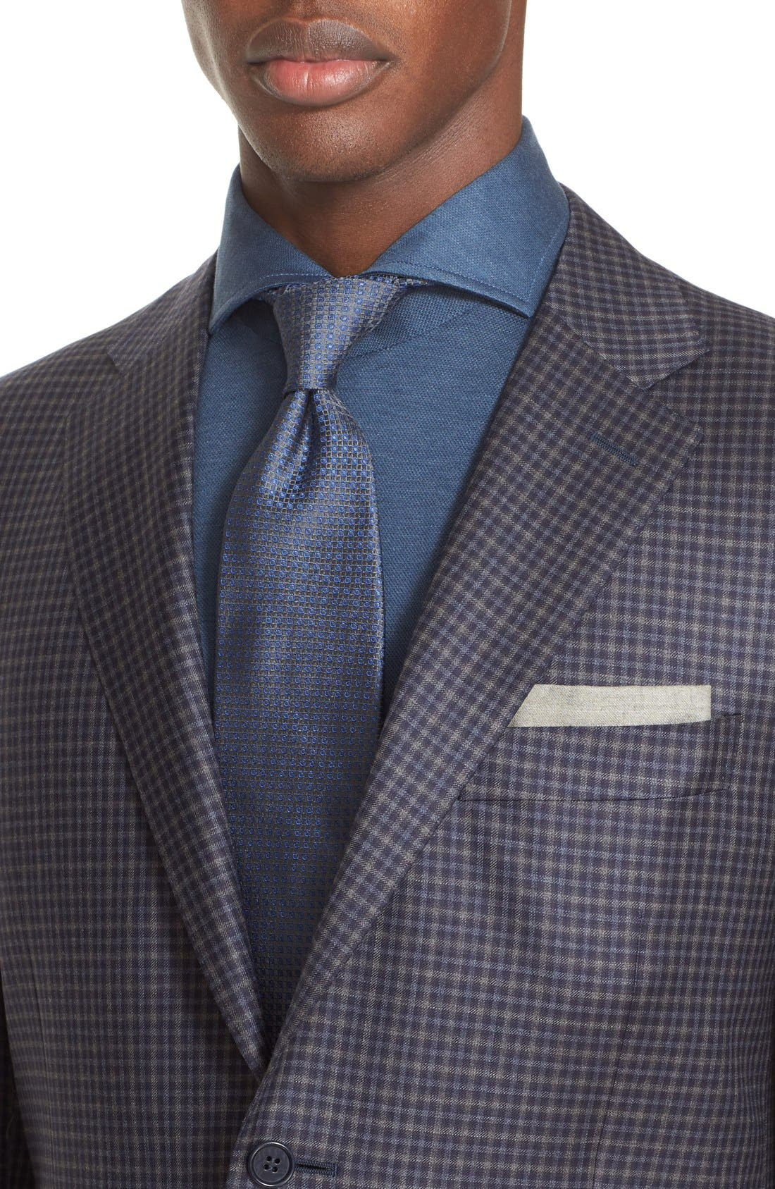 Classic Fit Check Wool Sport Coat,                             Alternate thumbnail 4, color,                             404