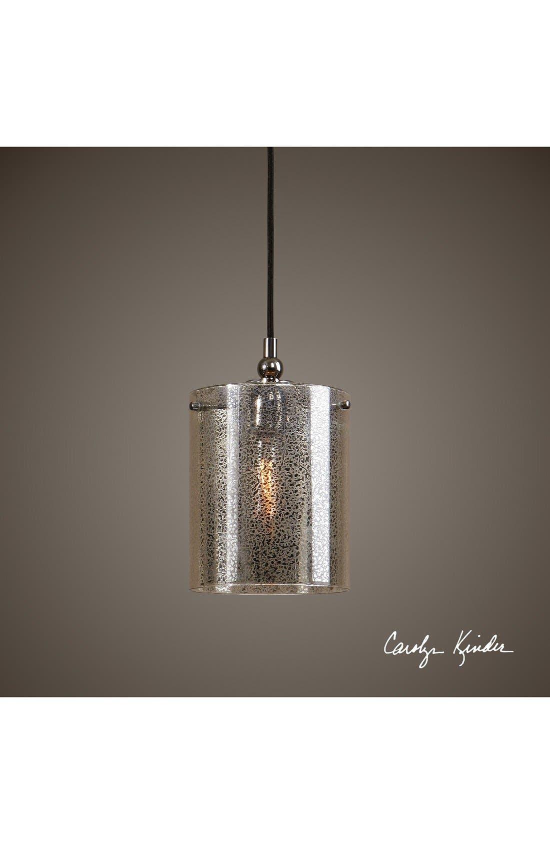 'Mariano' Mercury Glass Mini Pendant Lamp,                             Alternate thumbnail 2, color,