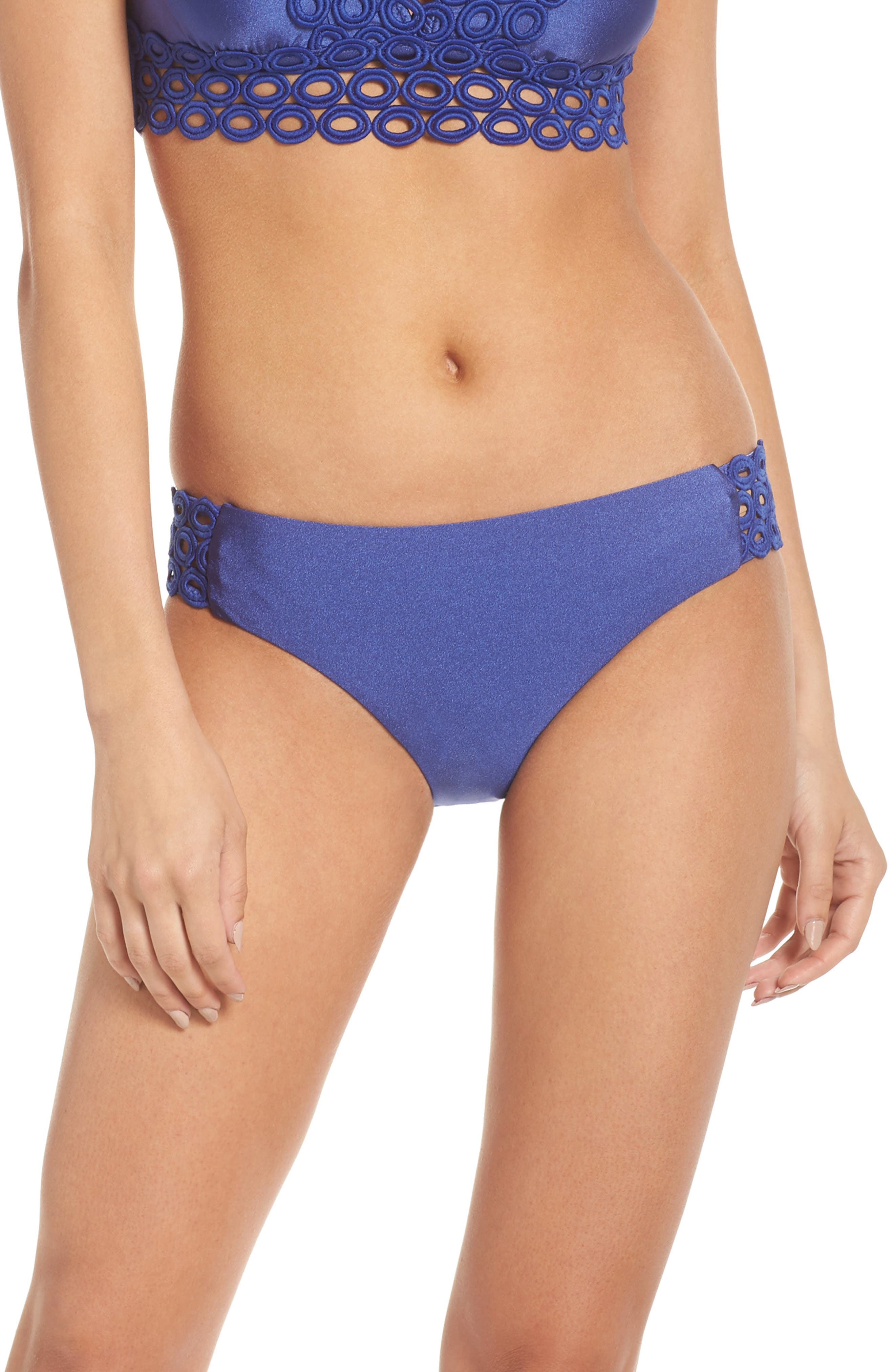 Siren Bikini Bottoms,                         Main,                         color, BLUE TOPAZ