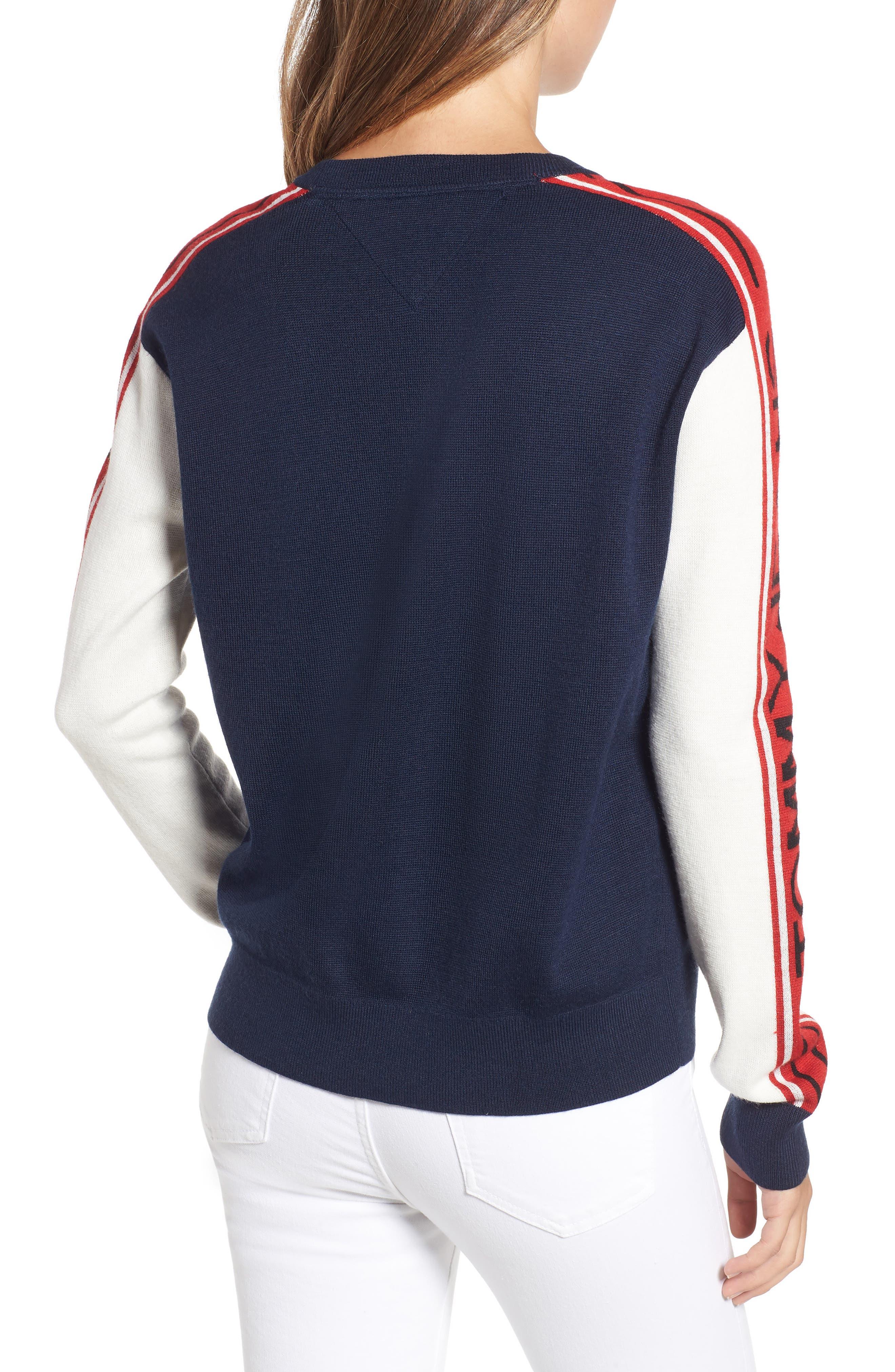 TJW Colorblock Sweater,                             Alternate thumbnail 2, color,                             BLUE