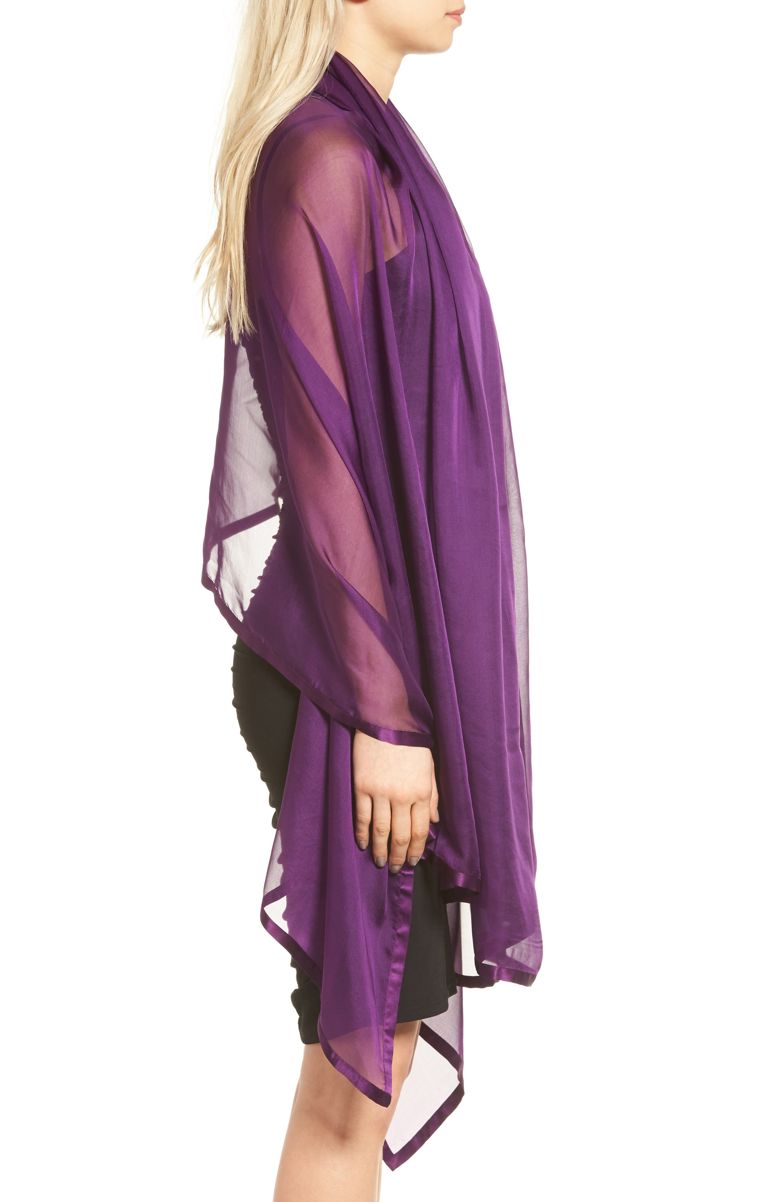 Satin Border Silk Wrap,                             Alternate thumbnail 28, color,