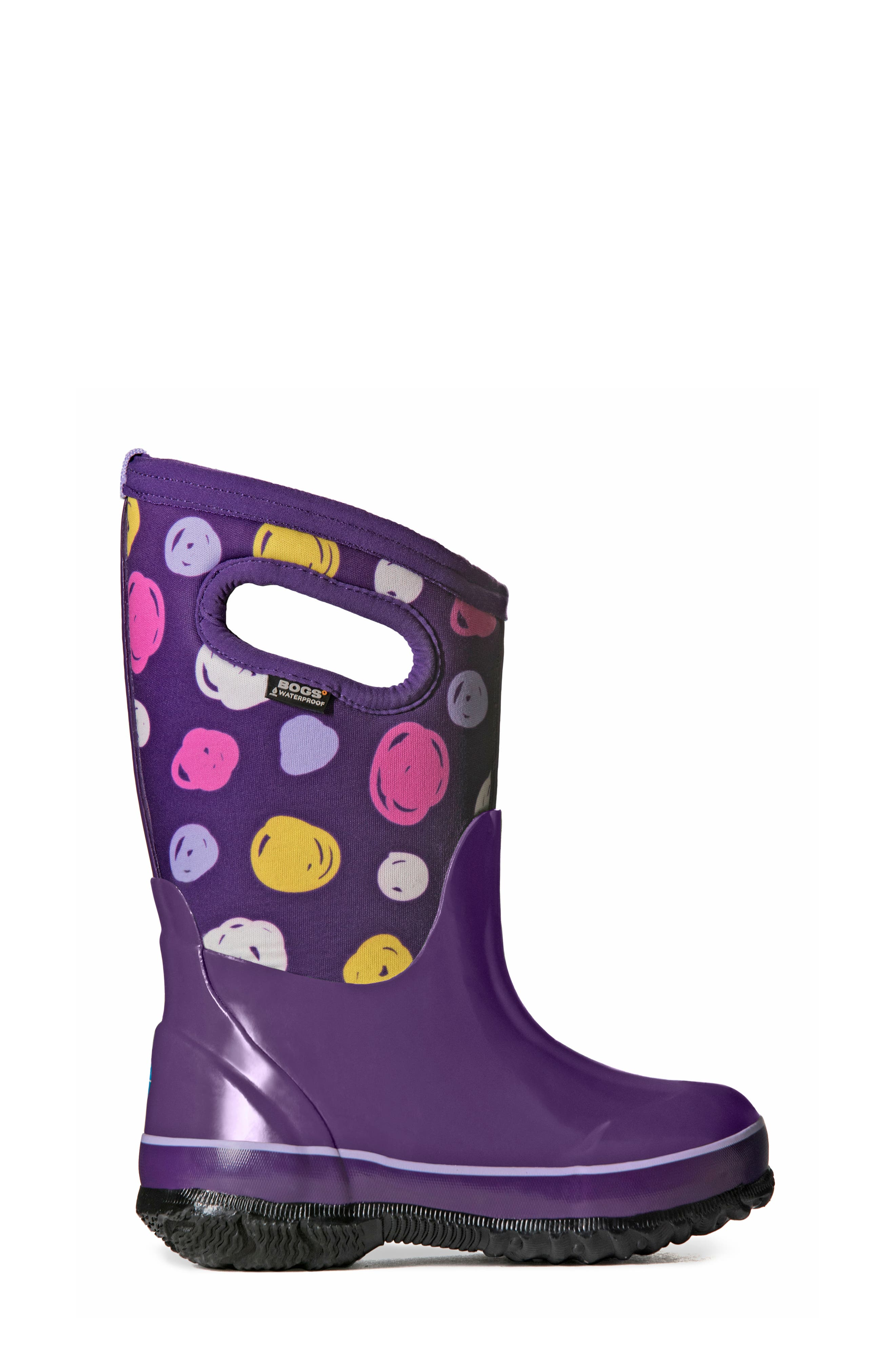 Classic Sketched Dots Insulated Waterproof Boot,                             Alternate thumbnail 7, color,