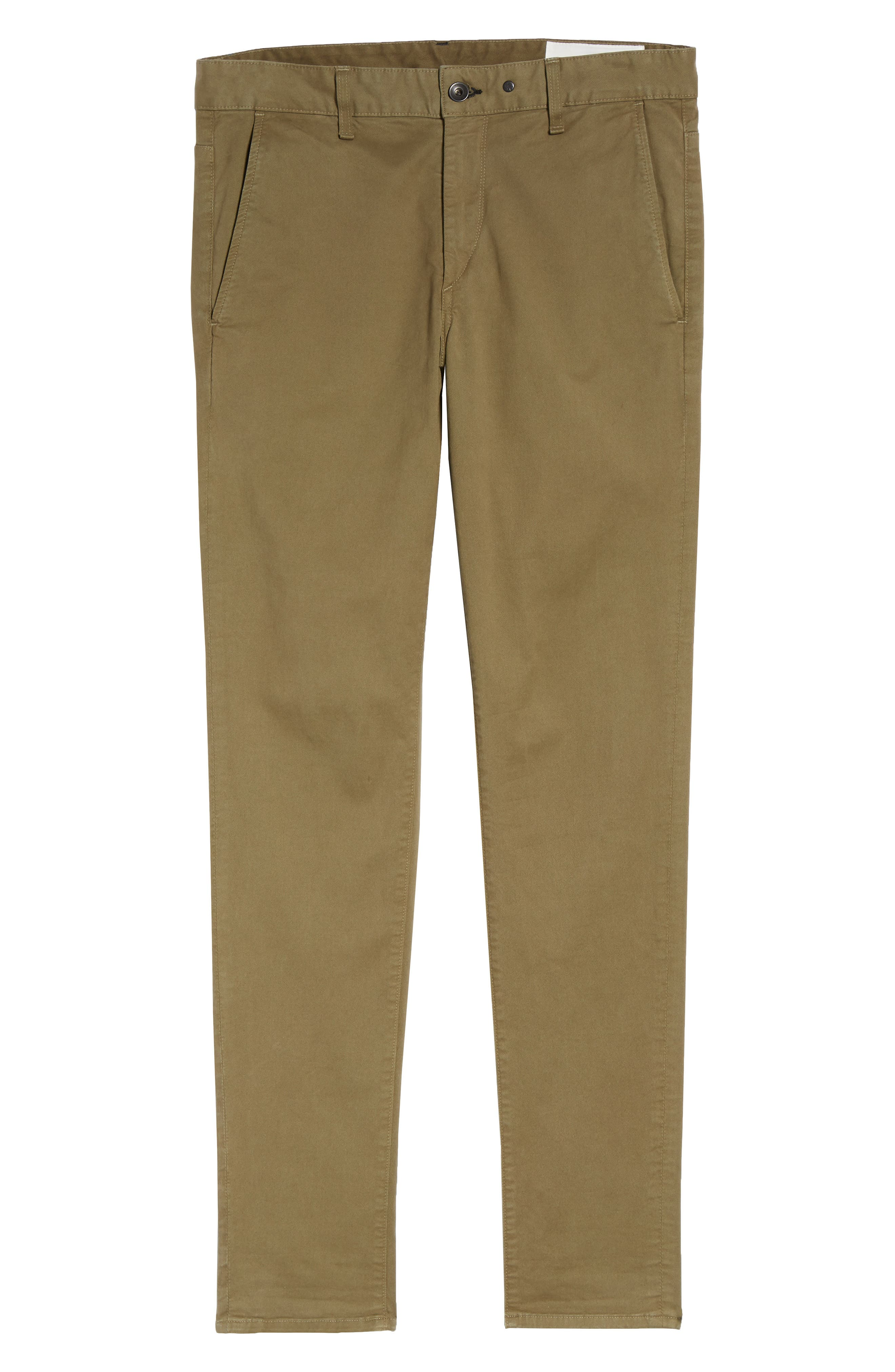 Fit 1 Chinos,                             Alternate thumbnail 6, color,                             ARMY GREEN