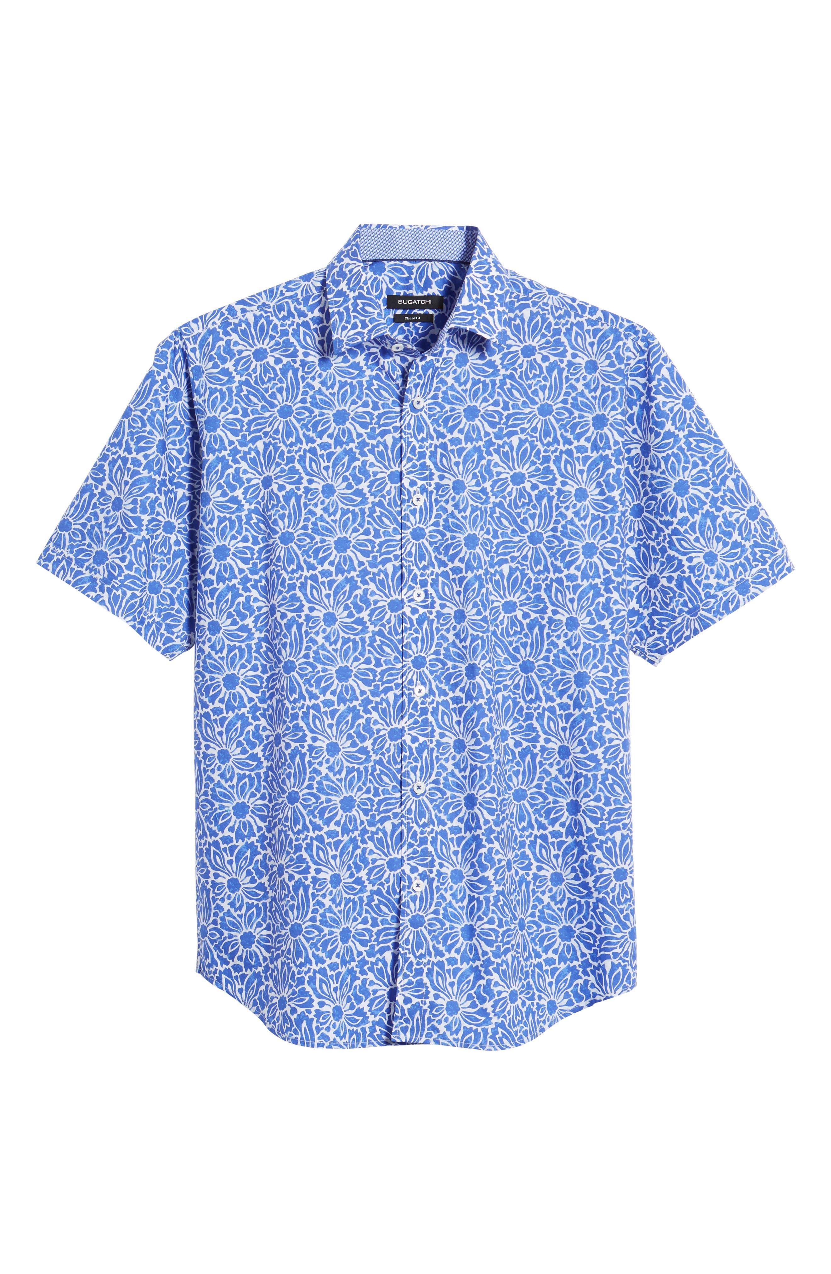 Classic Fit Floral Sport Shirt,                             Alternate thumbnail 6, color,                             419