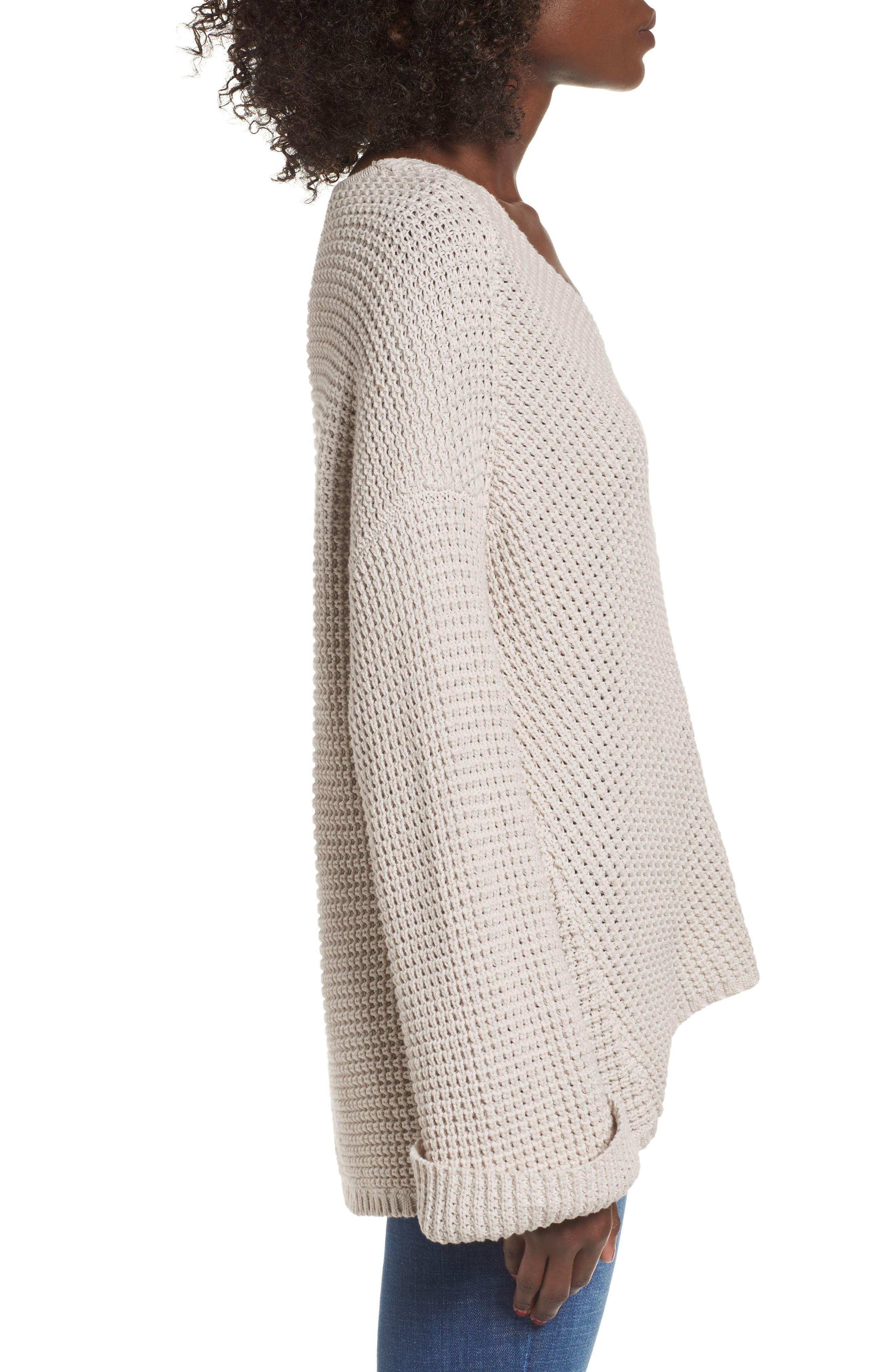 Adelia Bell Sleeve Sweater,                             Alternate thumbnail 3, color,                             900