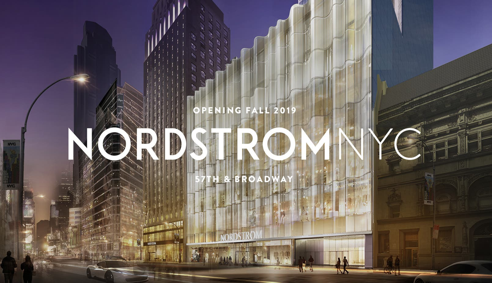 Nordstrom NYC: opening Fall 2019.