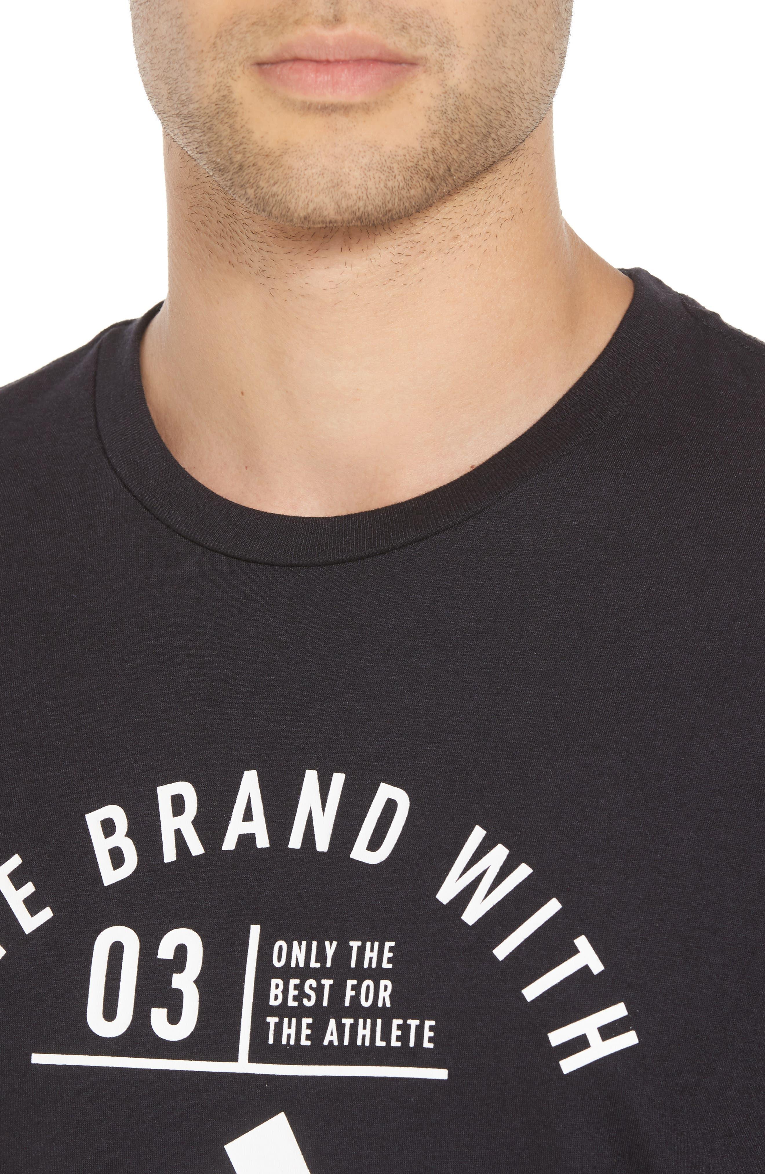 TSL Emblem T-Shirt,                             Alternate thumbnail 4, color,                             BLACK / WHITE