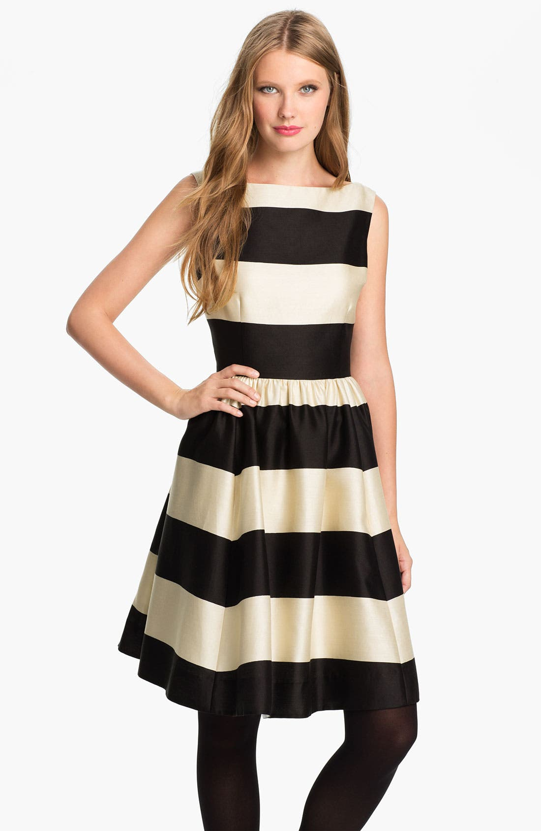 'carolyn' stripe fit & flare dress,                         Main,                         color, 200