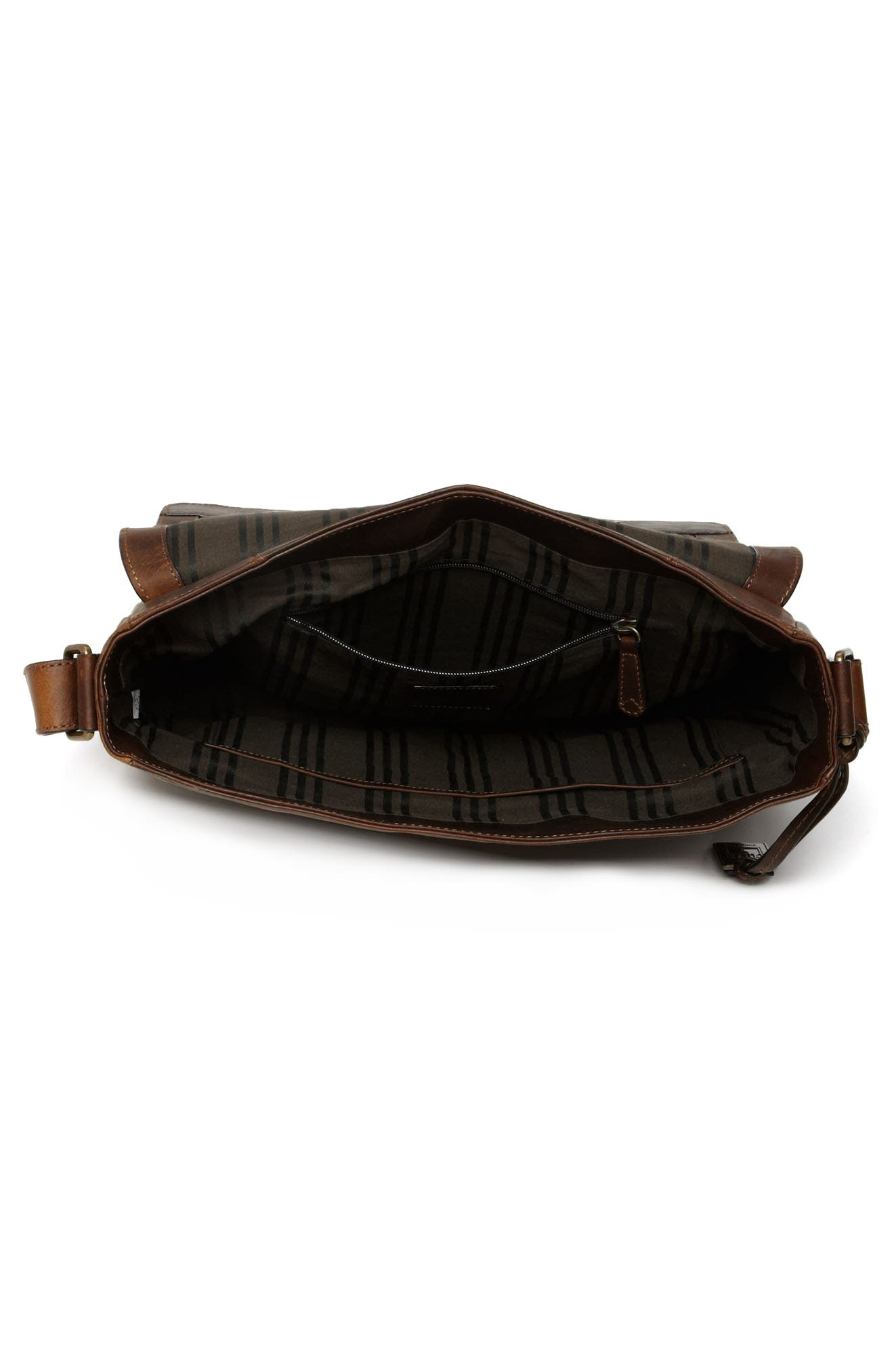 'Logan' Messenger Bag,                             Alternate thumbnail 4, color,                             ANTIQUE DARK BROWN