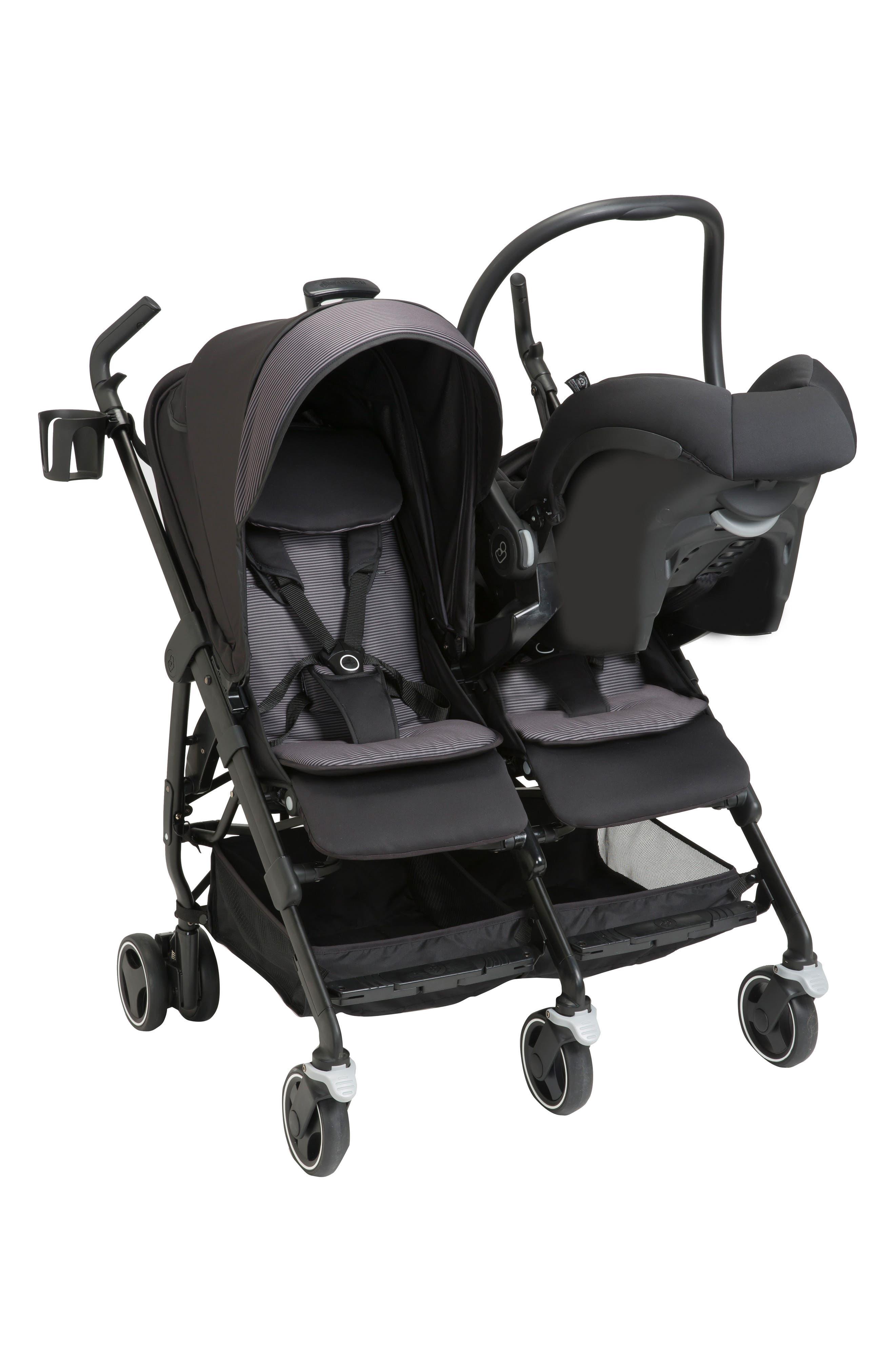 Dana For2 Double Stroller,                             Alternate thumbnail 6, color,                             DEVOTED BLACK