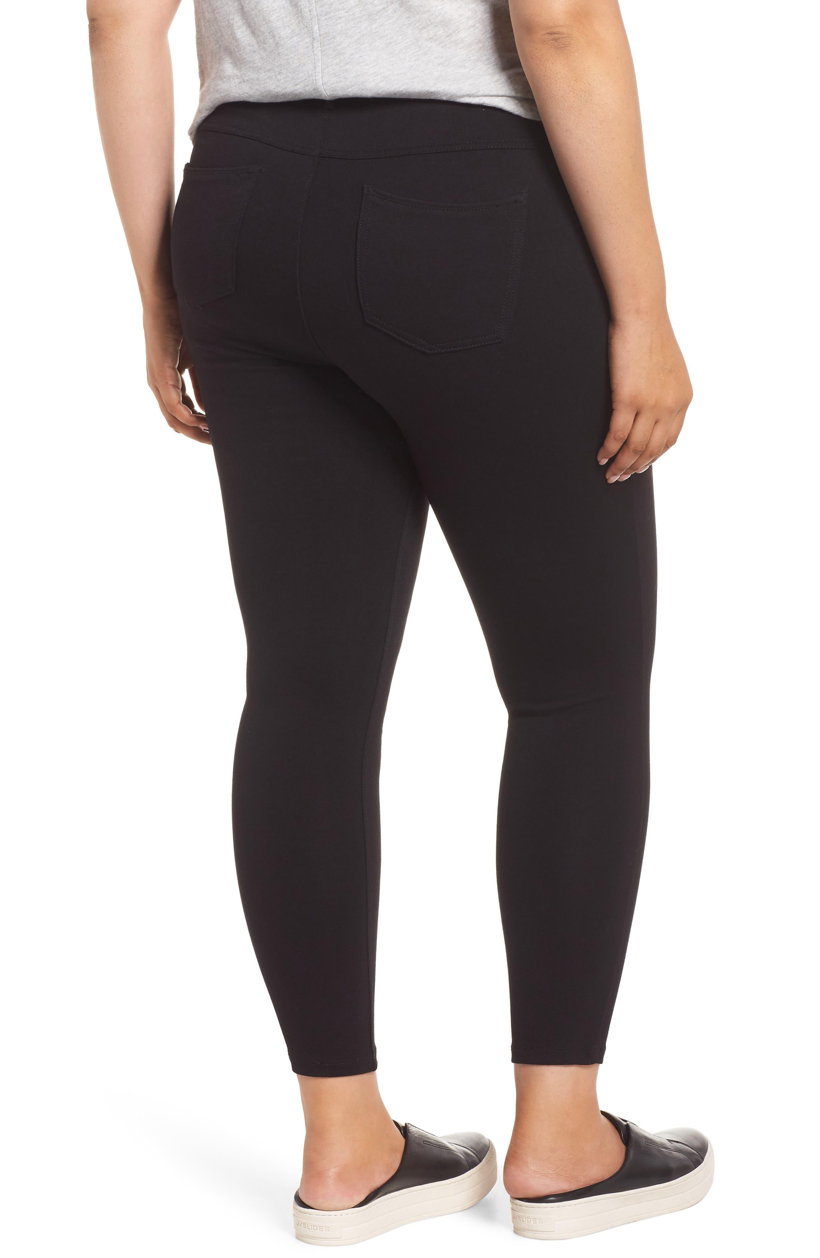 Ab-solution Zip Pocket Skinny Pants,                             Alternate thumbnail 2, color,                             BLACK