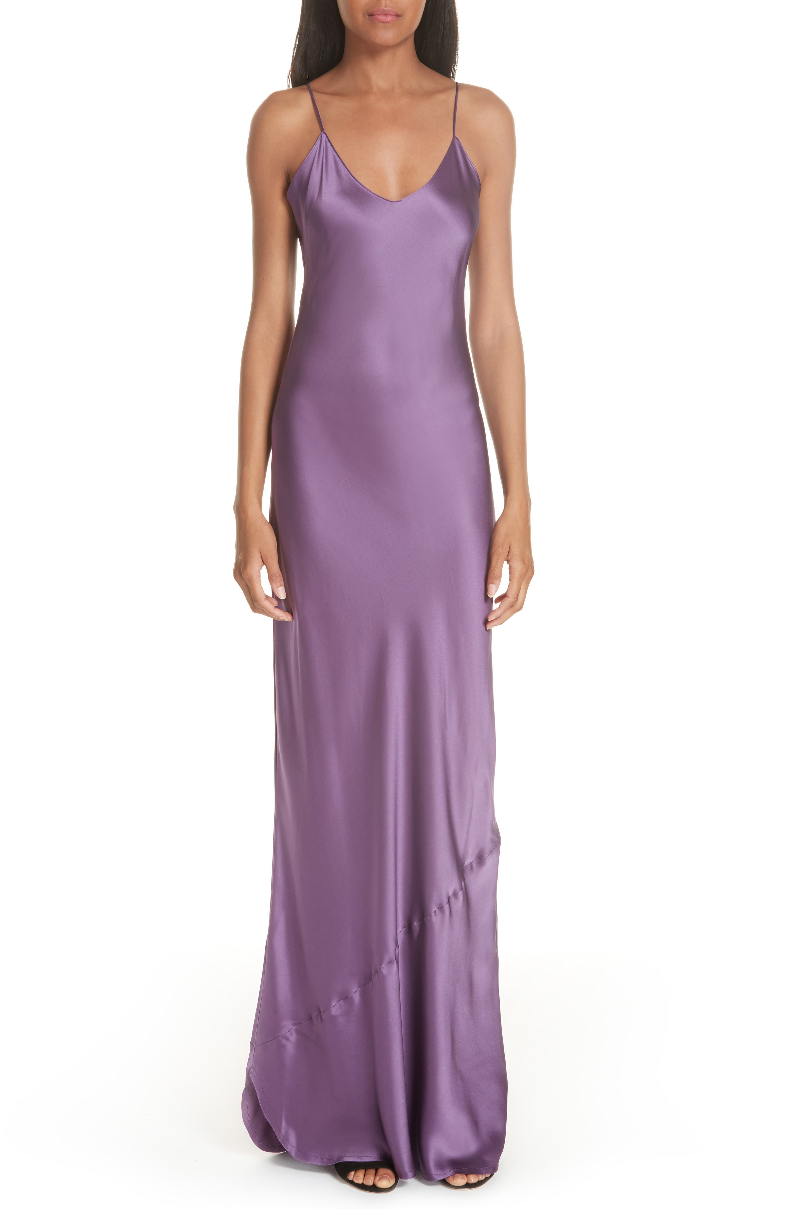 Silk Camisole Gown,                         Main,                         color, LILAC
