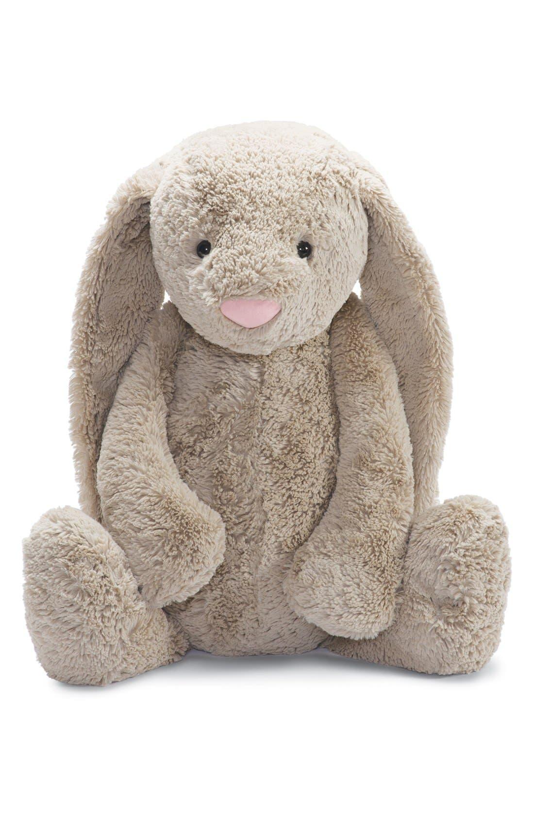 'Large Bashful Bunny' Stuffed Animal,                             Main thumbnail 1, color,                             250