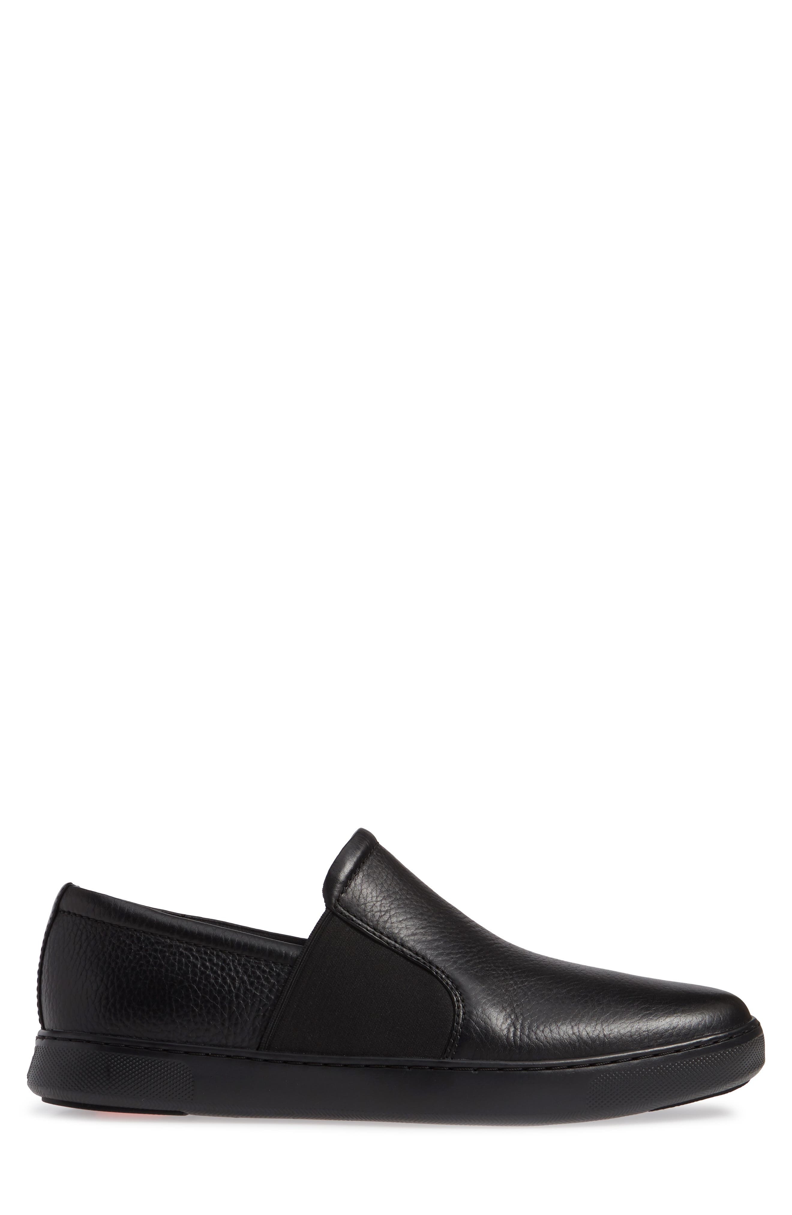 FITFLOP,                             Collins Slip-On Sneaker,                             Alternate thumbnail 3, color,                             BLACK