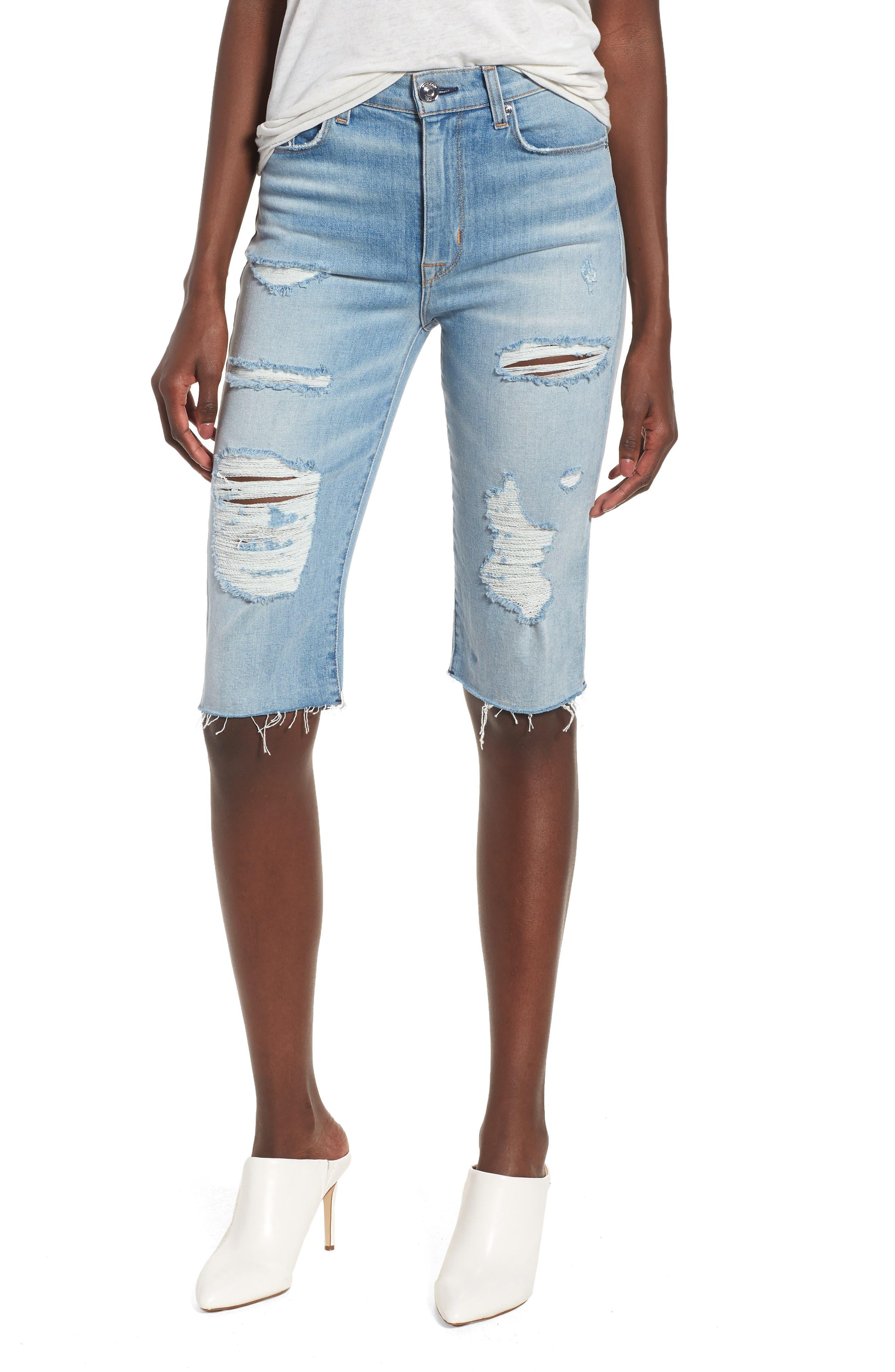 Zoeey High Waist Cutoff Boyfriend Shorts,                         Main,                         color, 420