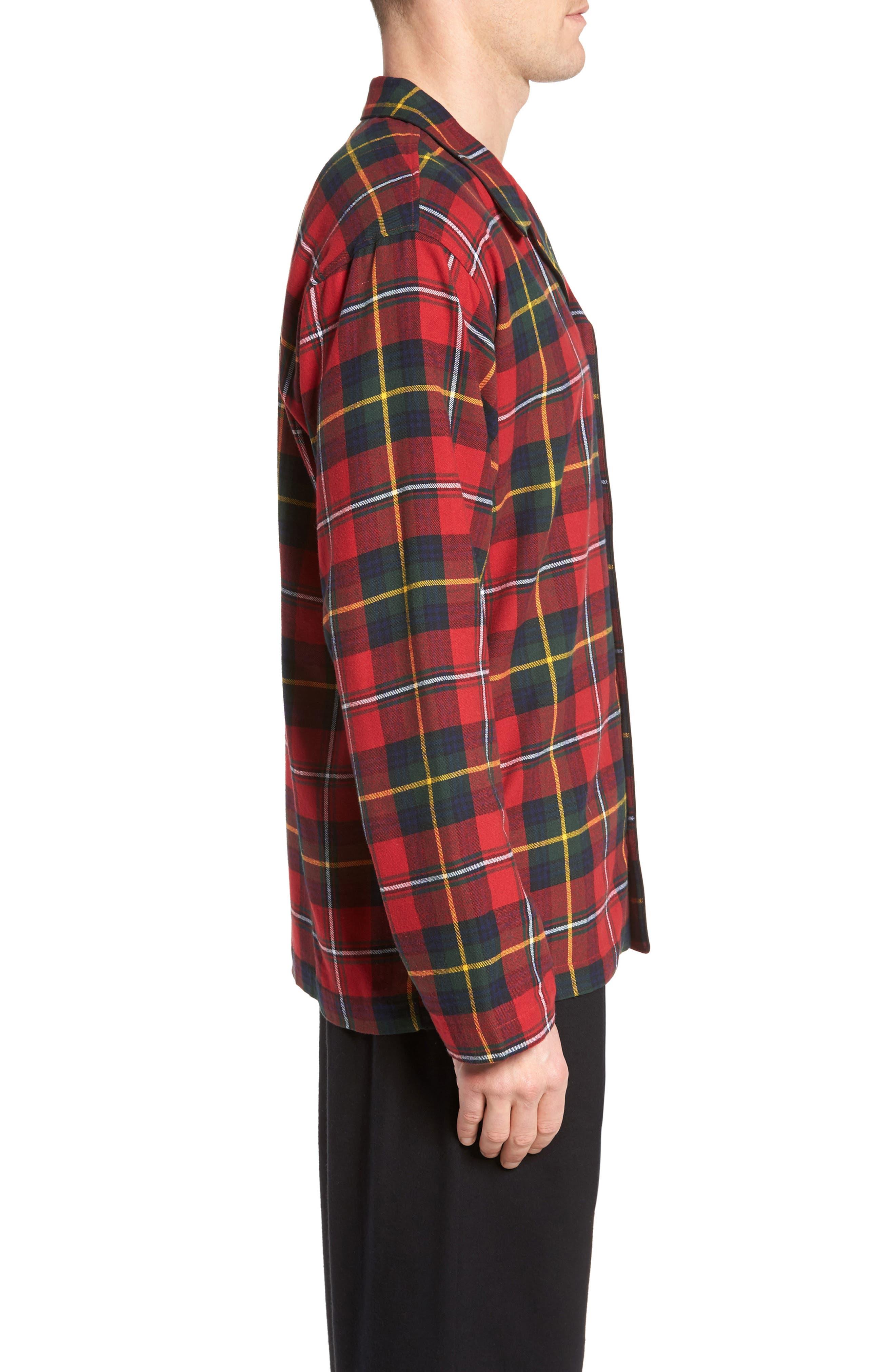 Polo Ralph Lauren Flannel Pajama Shirt,                             Alternate thumbnail 12, color,