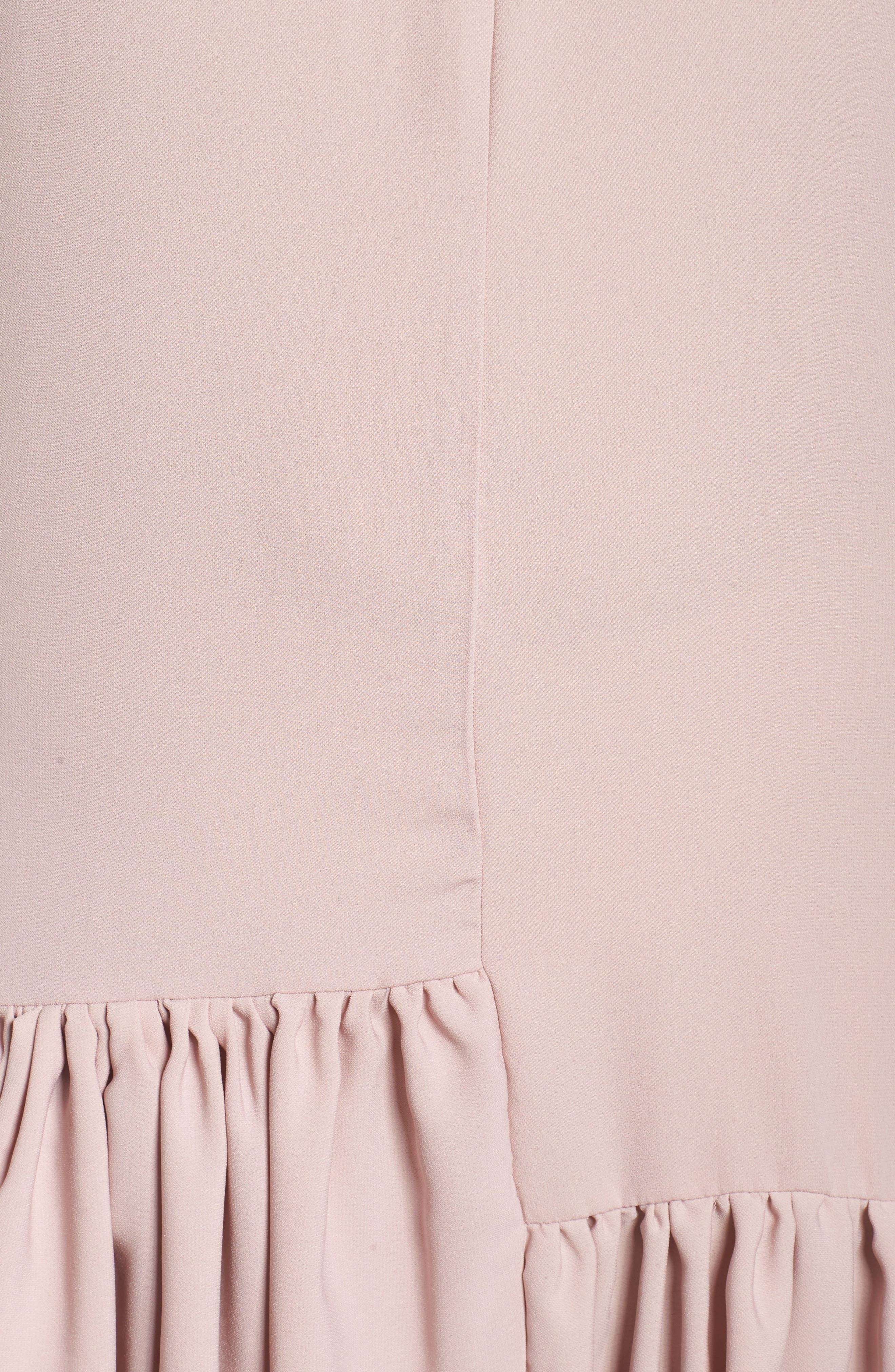 Asymmetrical Ruffle Shift Dress,                             Alternate thumbnail 5, color,                             660