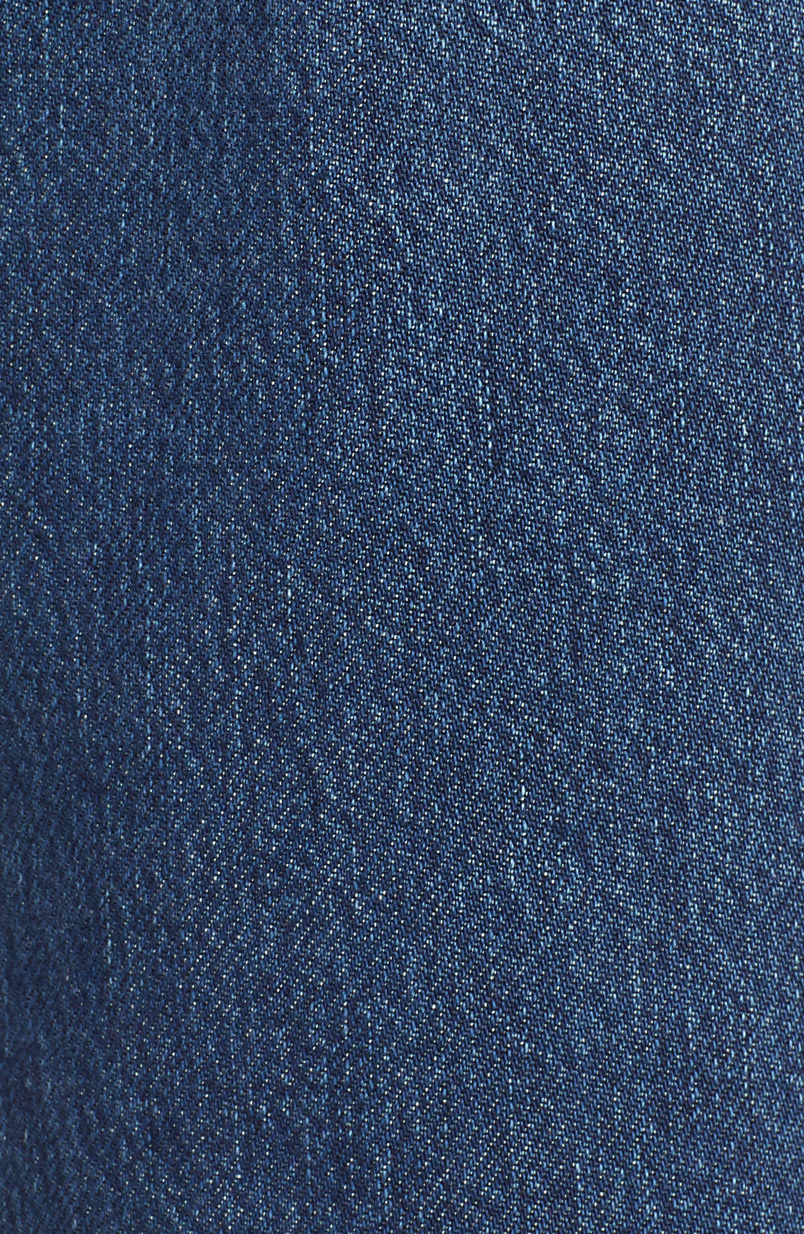 TOPSHOP,                             New Boyfriend Jeans,                             Alternate thumbnail 6, color,                             MID BLUE