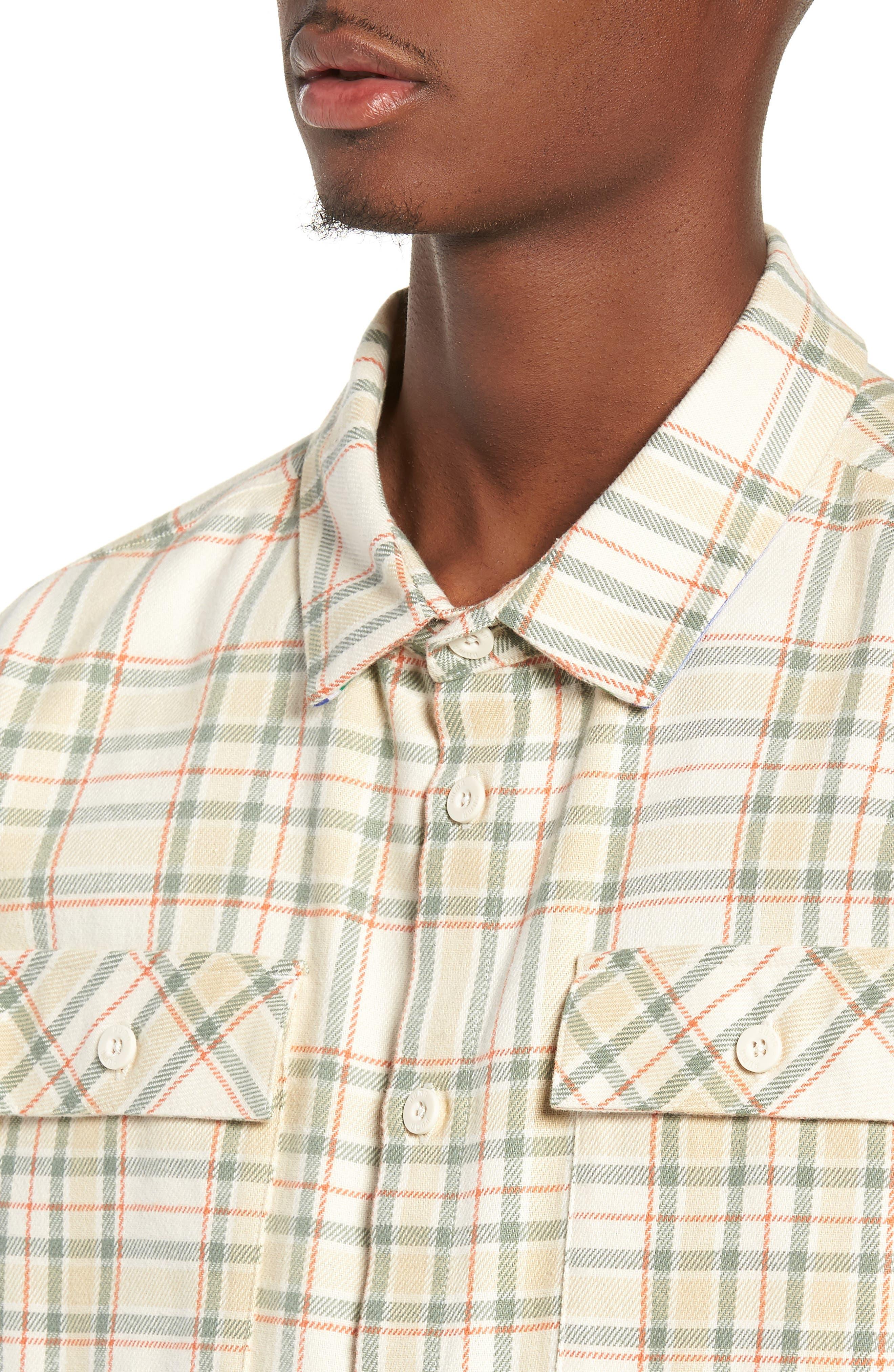 PUMA,                             x Big Sean Check Shirt,                             Alternate thumbnail 4, color,                             100