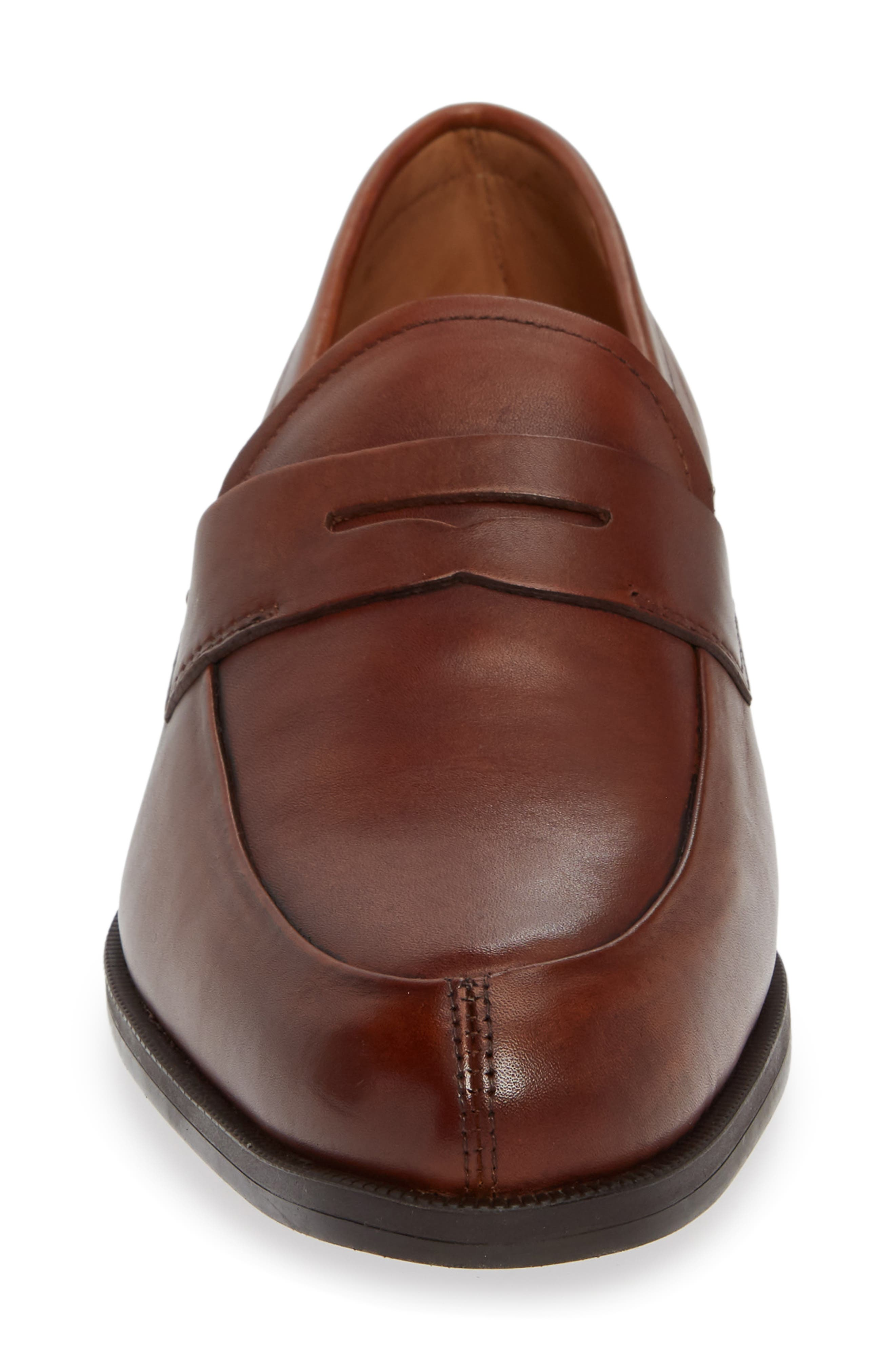 Iggi Penny Loafer,                             Alternate thumbnail 4, color,                             COGNAC LEATHER