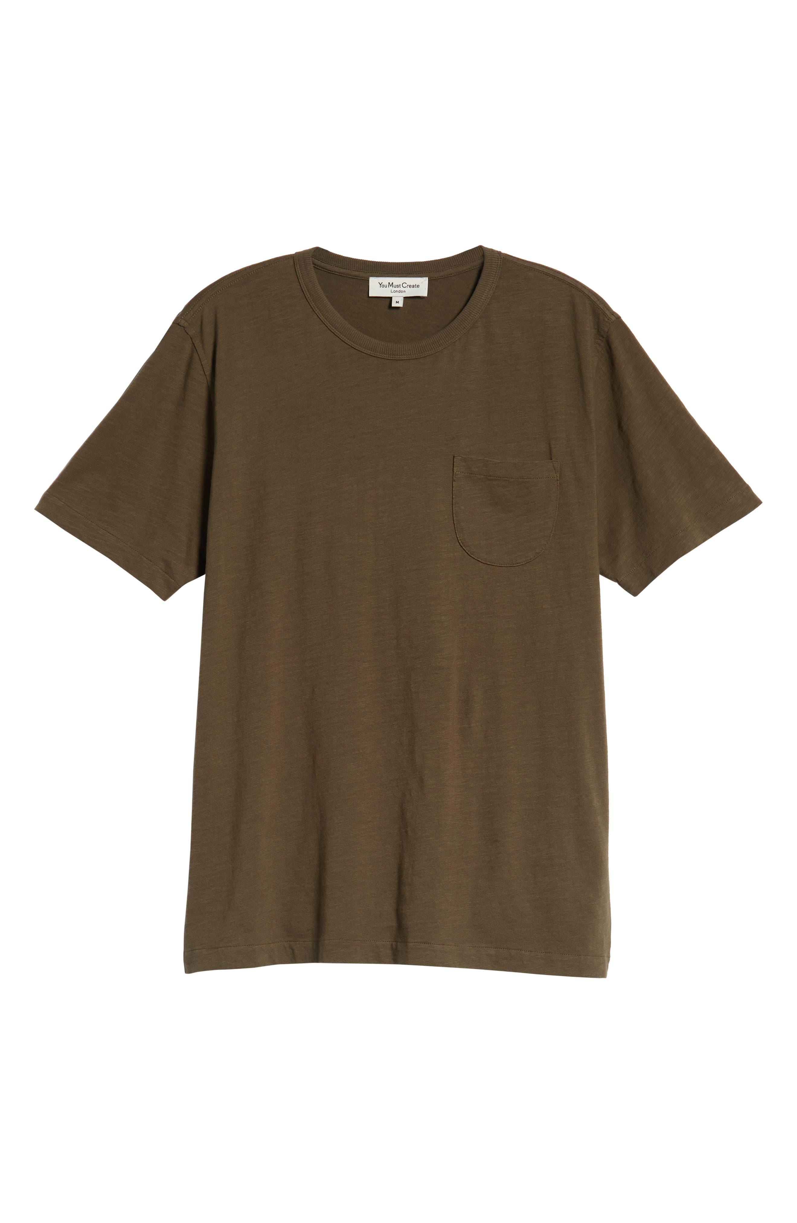 Slubbed Pocket T-Shirt,                             Alternate thumbnail 6, color,                             GREEN