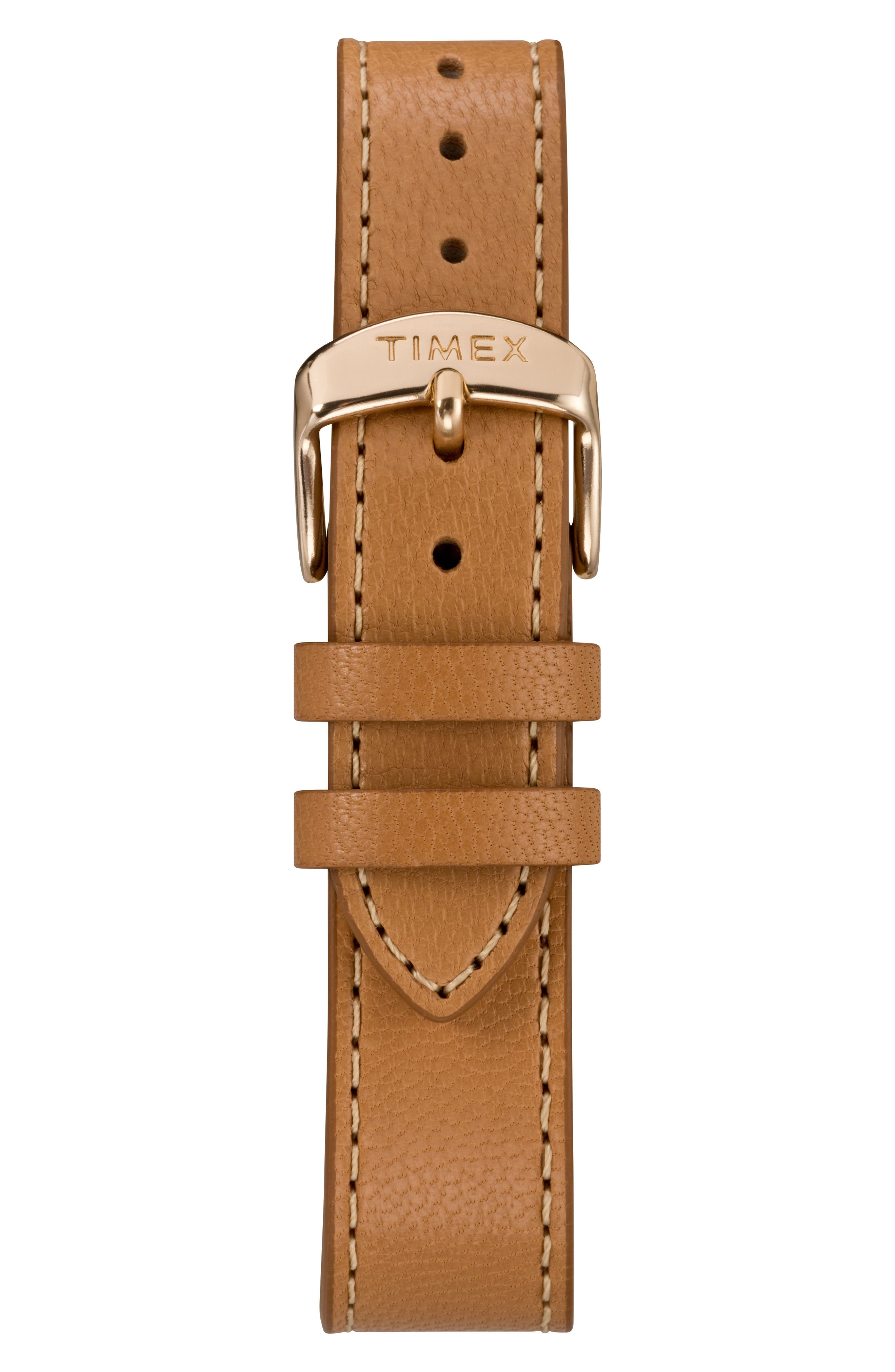 Timex Fairfield Leather Strap Watch, 37mm,                             Alternate thumbnail 2, color,                             NO_COLOR