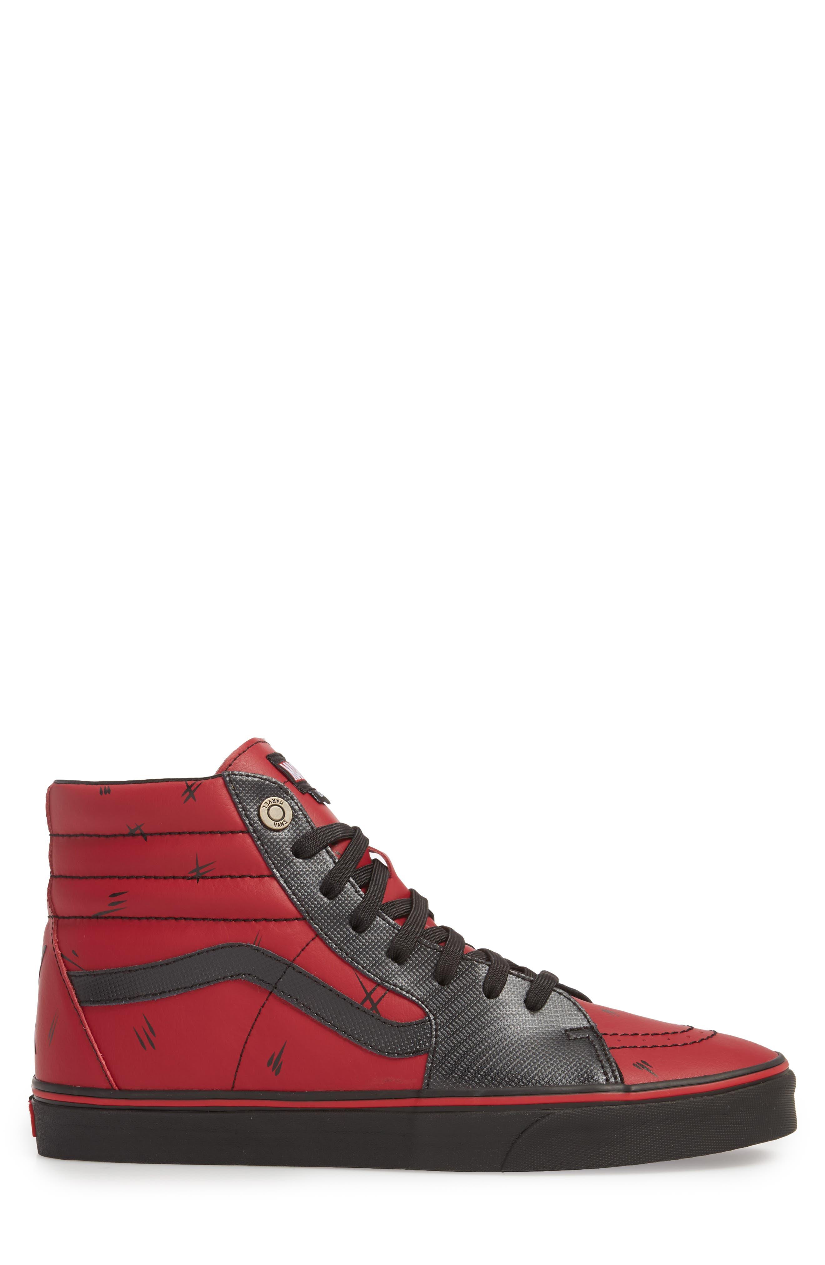 x Marvel<sup>®</sup> UA Sk8-Hi Sneaker,                             Alternate thumbnail 6, color,