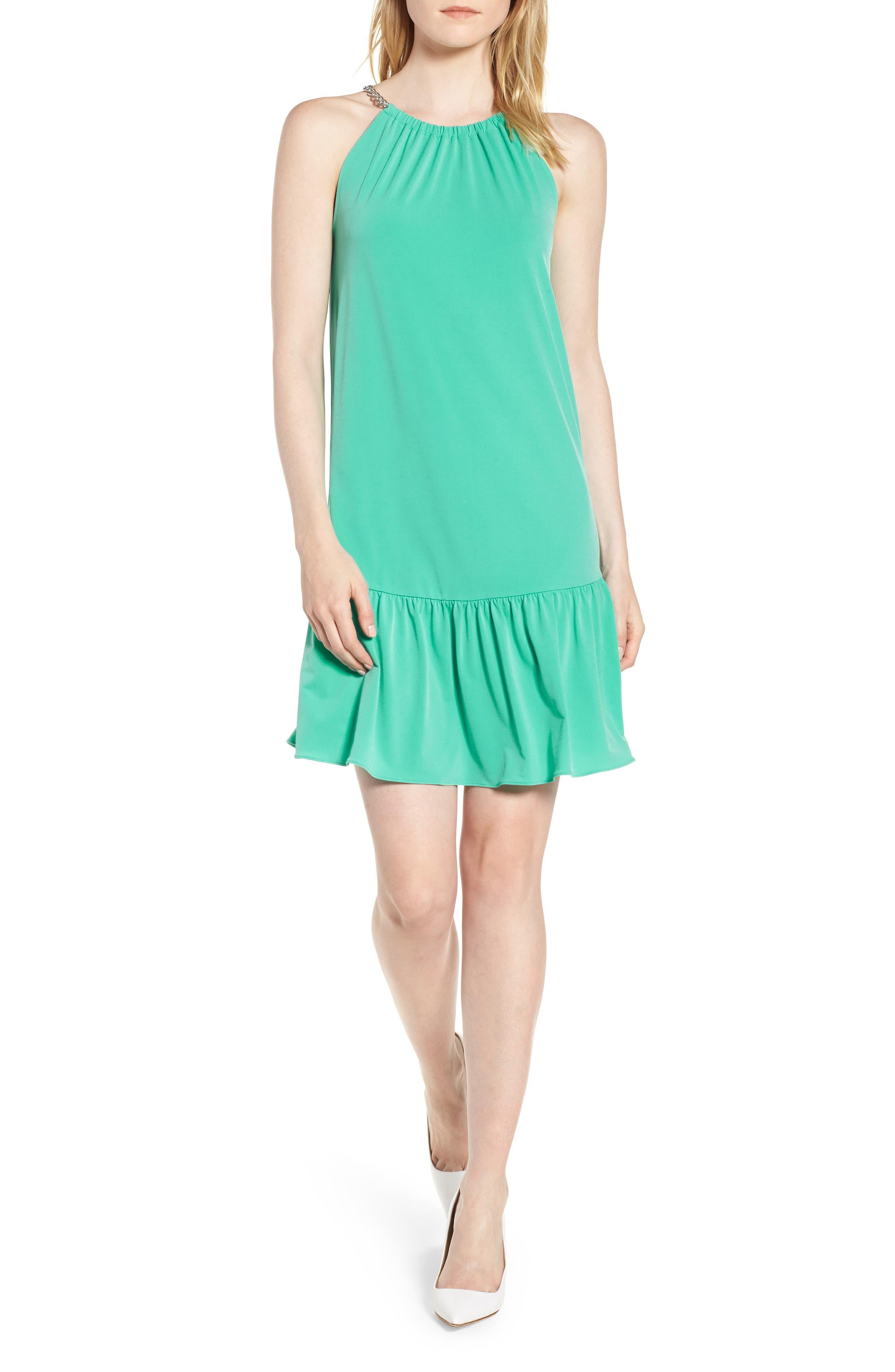 Chain Detail Halter Dress,                         Main,                         color, 300