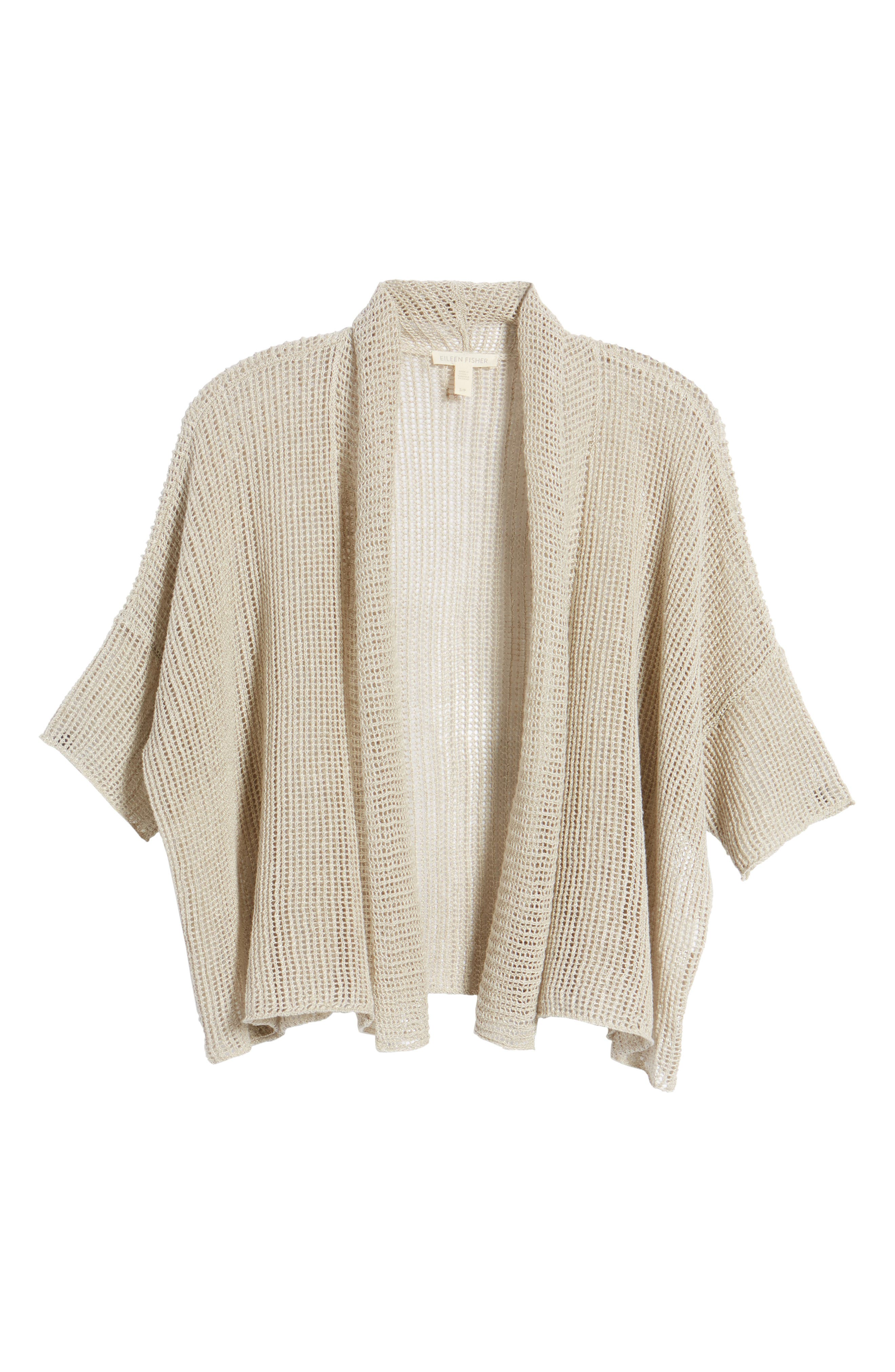 Boxy Organic Linen Cardigan,                             Alternate thumbnail 28, color,