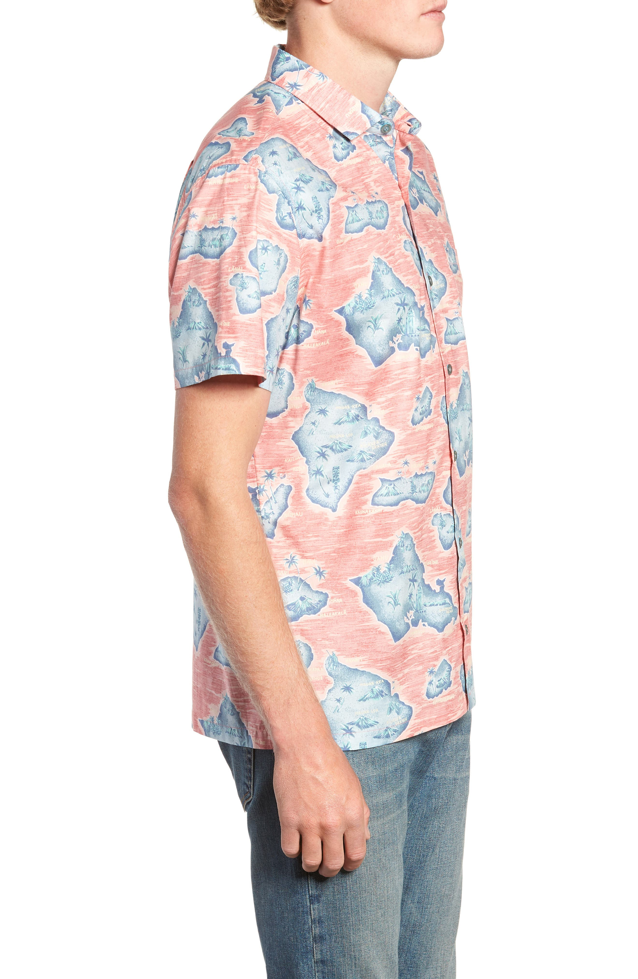 Sandwich Isle Regular Fit Sport Shirt,                             Alternate thumbnail 4, color,                             HAWAIIAN SALT