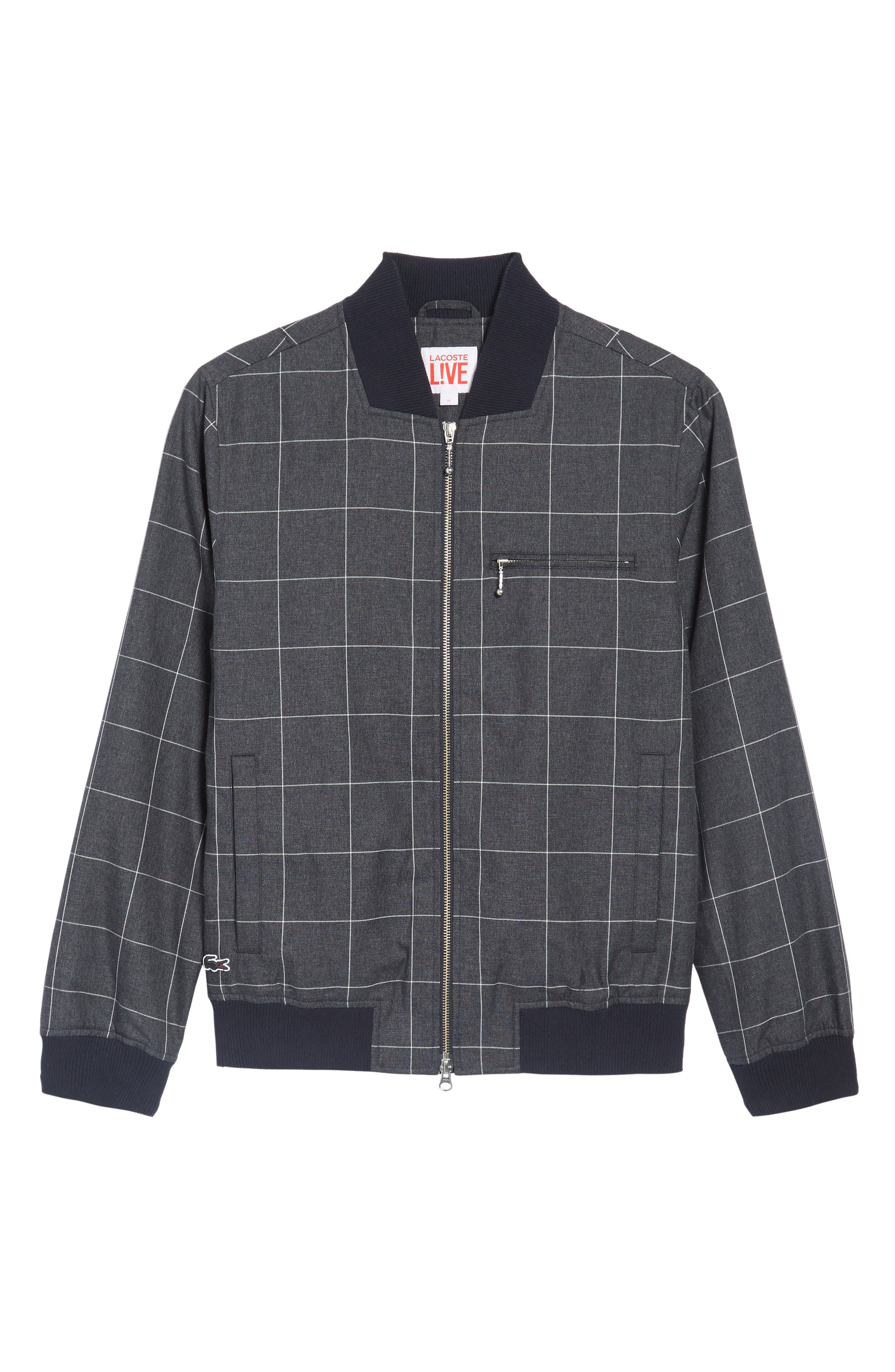 Check Flannel Bomber Jacket,                             Alternate thumbnail 6, color,                             419