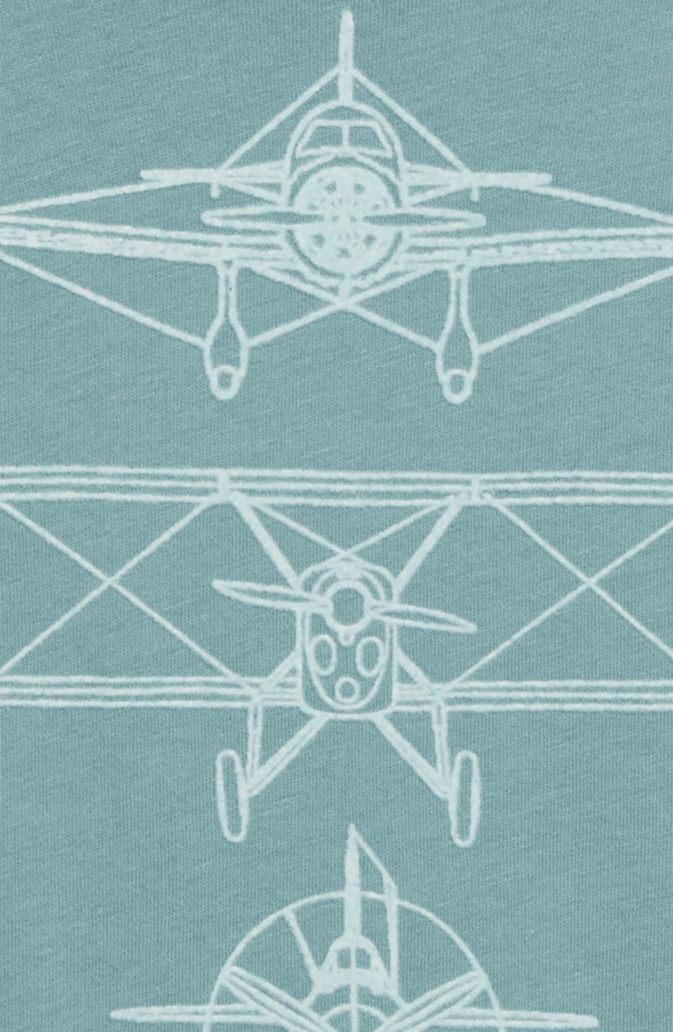 Peek Airplane Graphic T-Shirt,                             Alternate thumbnail 3, color,                             400