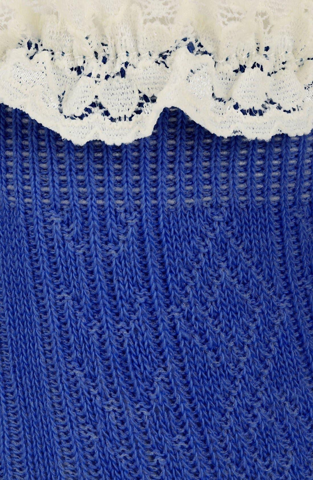Lace Trim Ankle Socks,                             Alternate thumbnail 34, color,