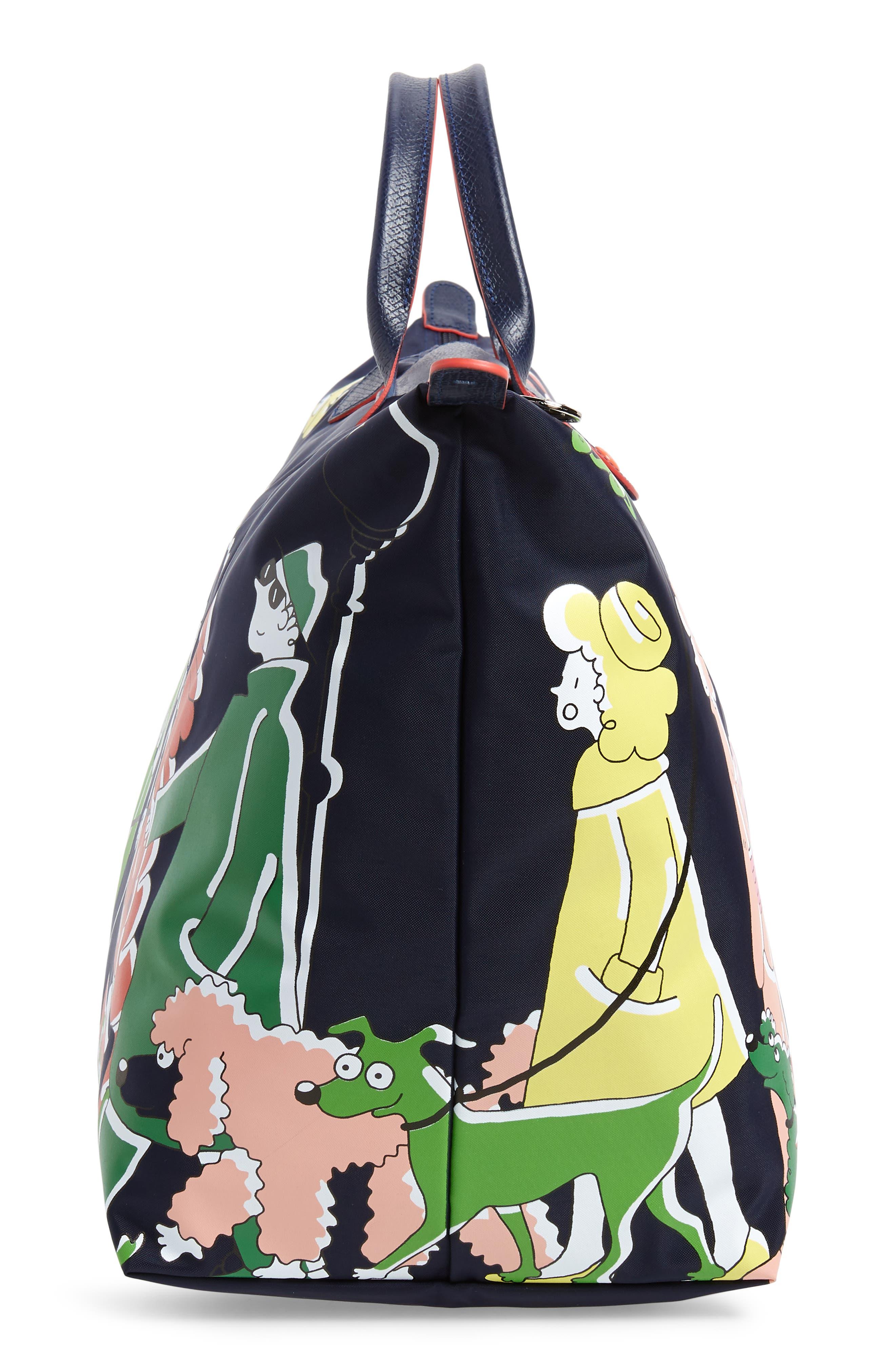 x Clo'e Floirat Le Pliage Illustration Travel Bag,                             Alternate thumbnail 5, color,                             MULTICOLOR